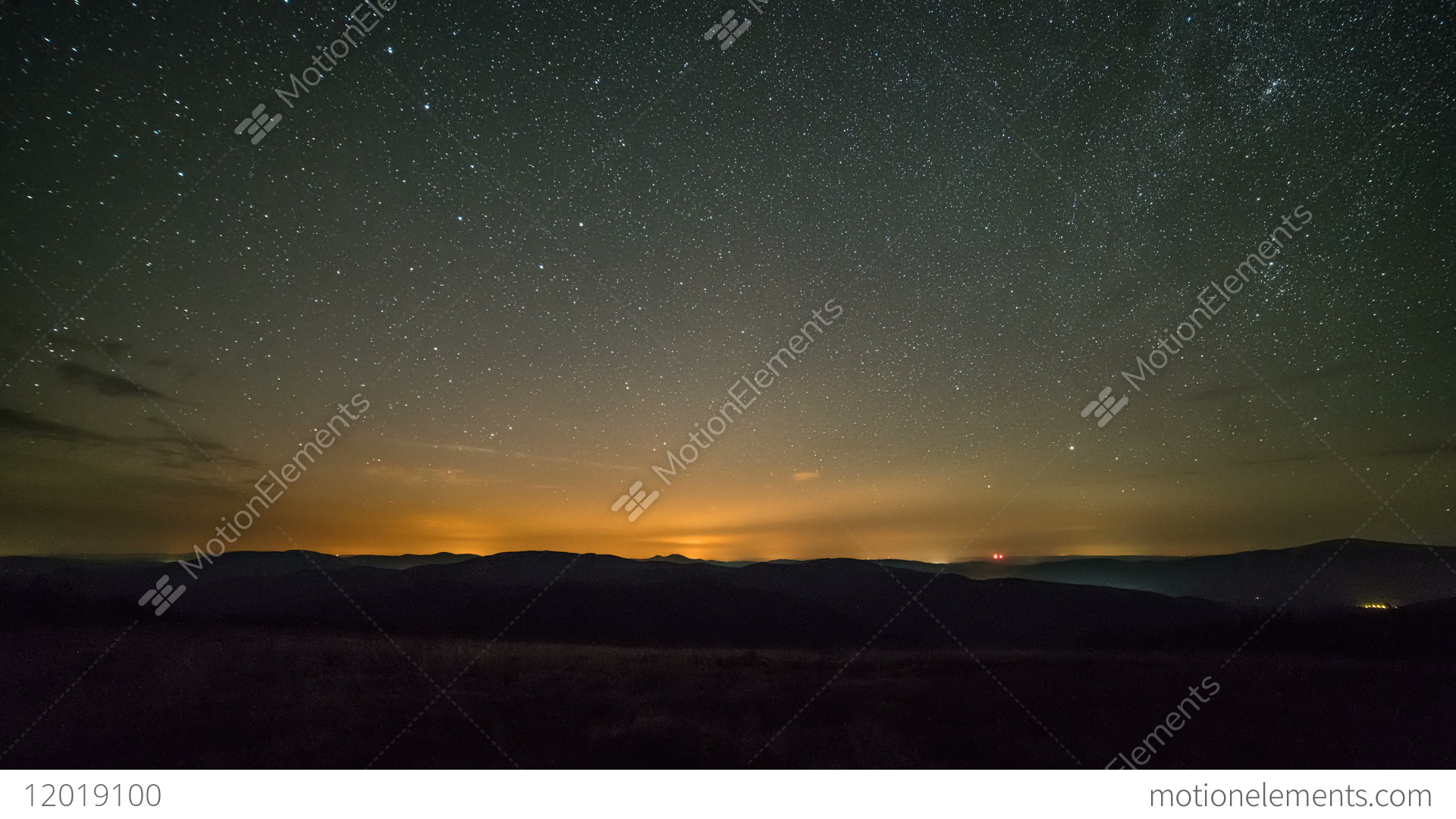 starry night sky with stars and clouds time lapse background stock