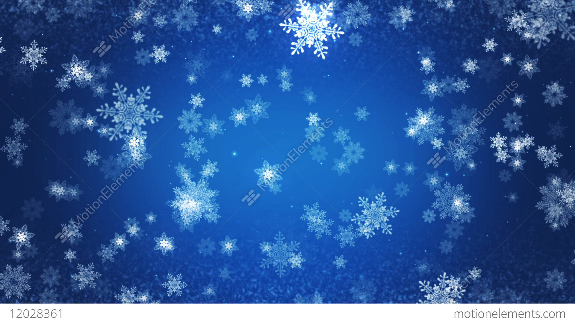 winter christmas background stock animation 12028361