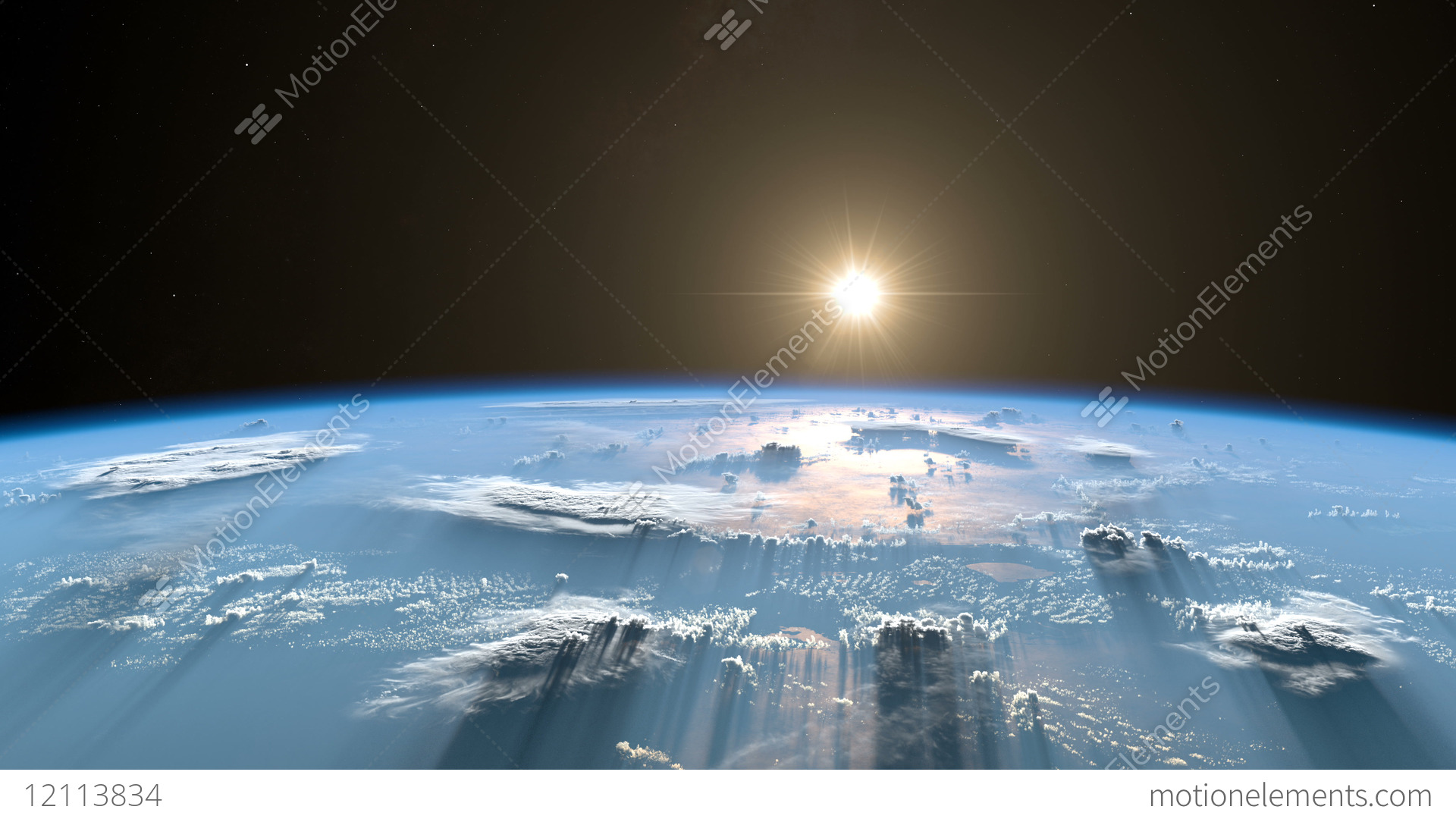 Sunrise From Space. Earth From Space. Version 2018 Stock Animation ... 37e48a656ce