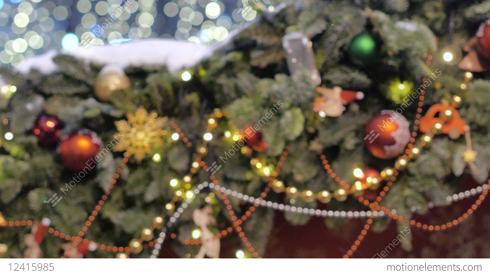 Christmas tree decorated with glittery Christmas... Stock Video Footage