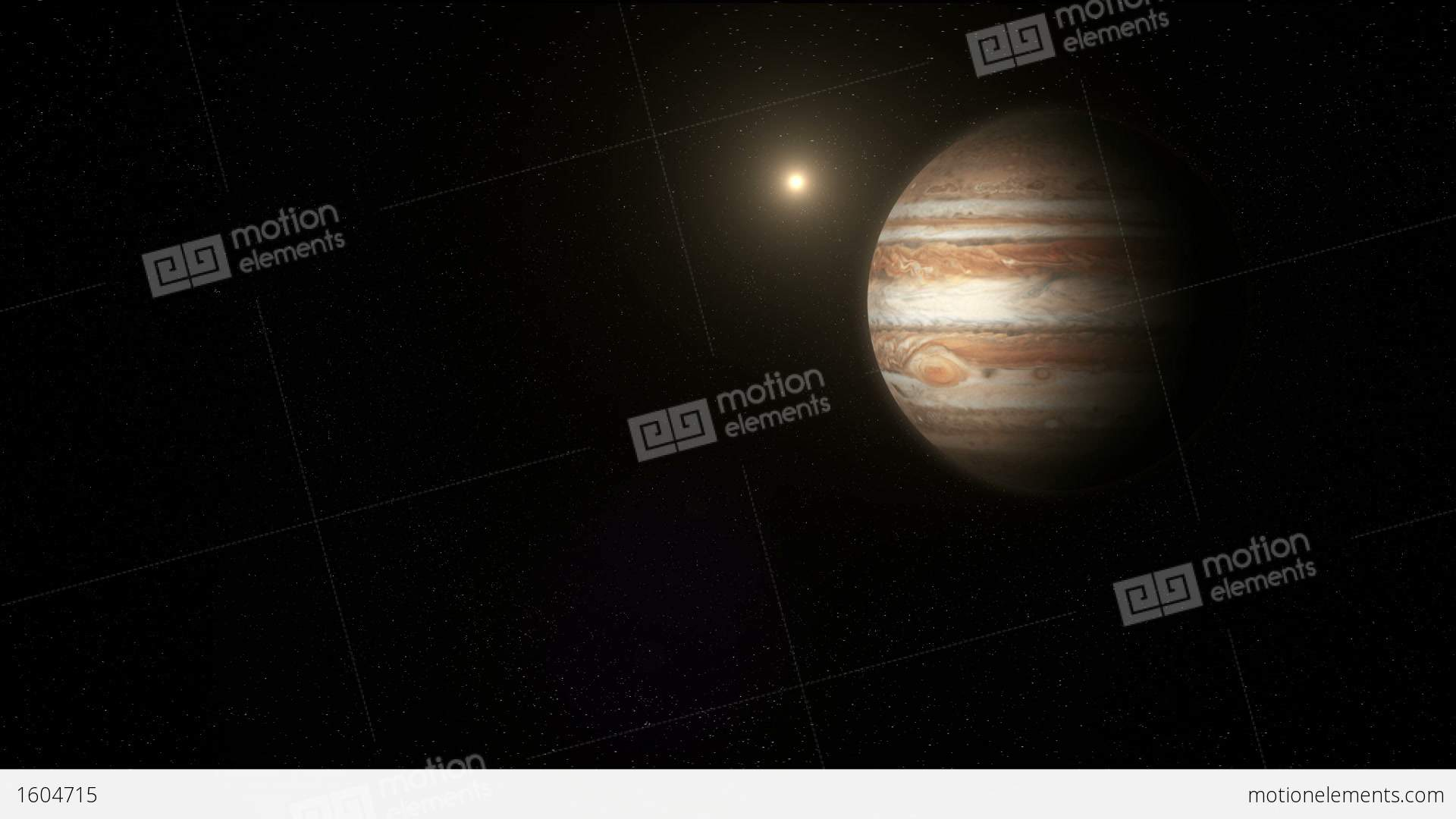 the planet jupiter in space stock animation 1604715