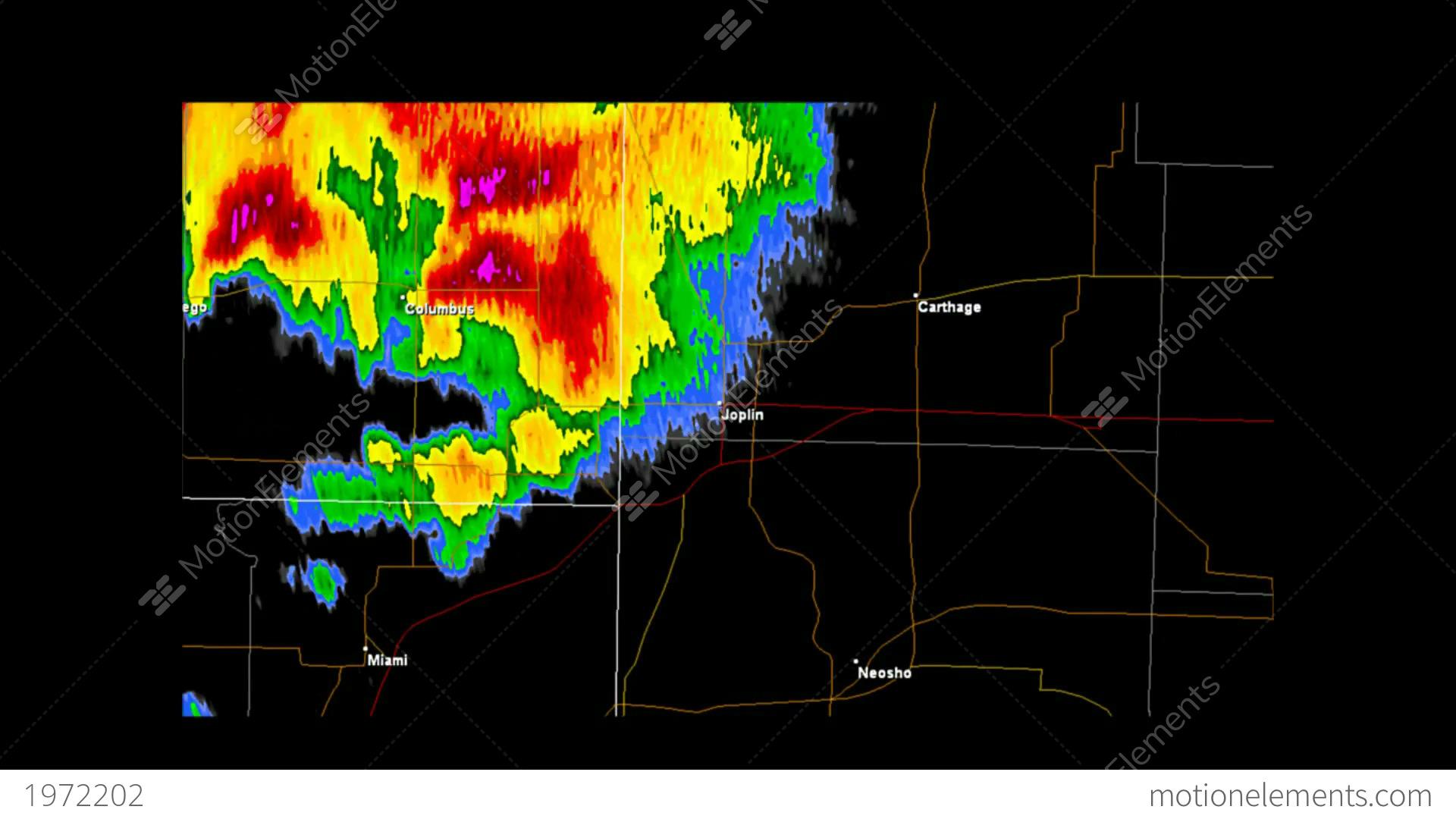 2011 Joplin Missouri Tornado Doppler Radar Stock