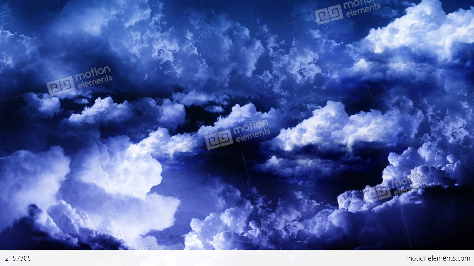 Lightning Storm Clouds Stock Animation | 2157305