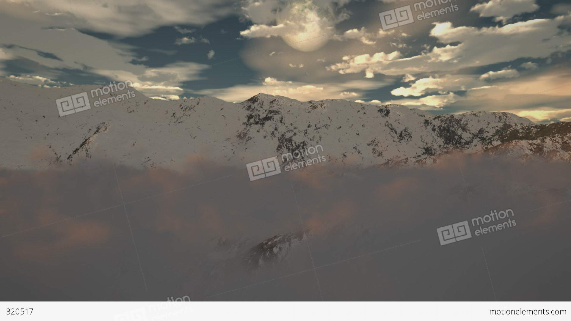 winter snow mountain moon - photo #39
