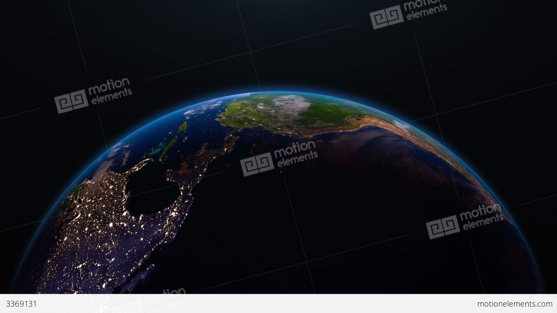Earth view from space with night city lights nort stock animation earth view from space with night city lights nort stock video footage gumiabroncs Images