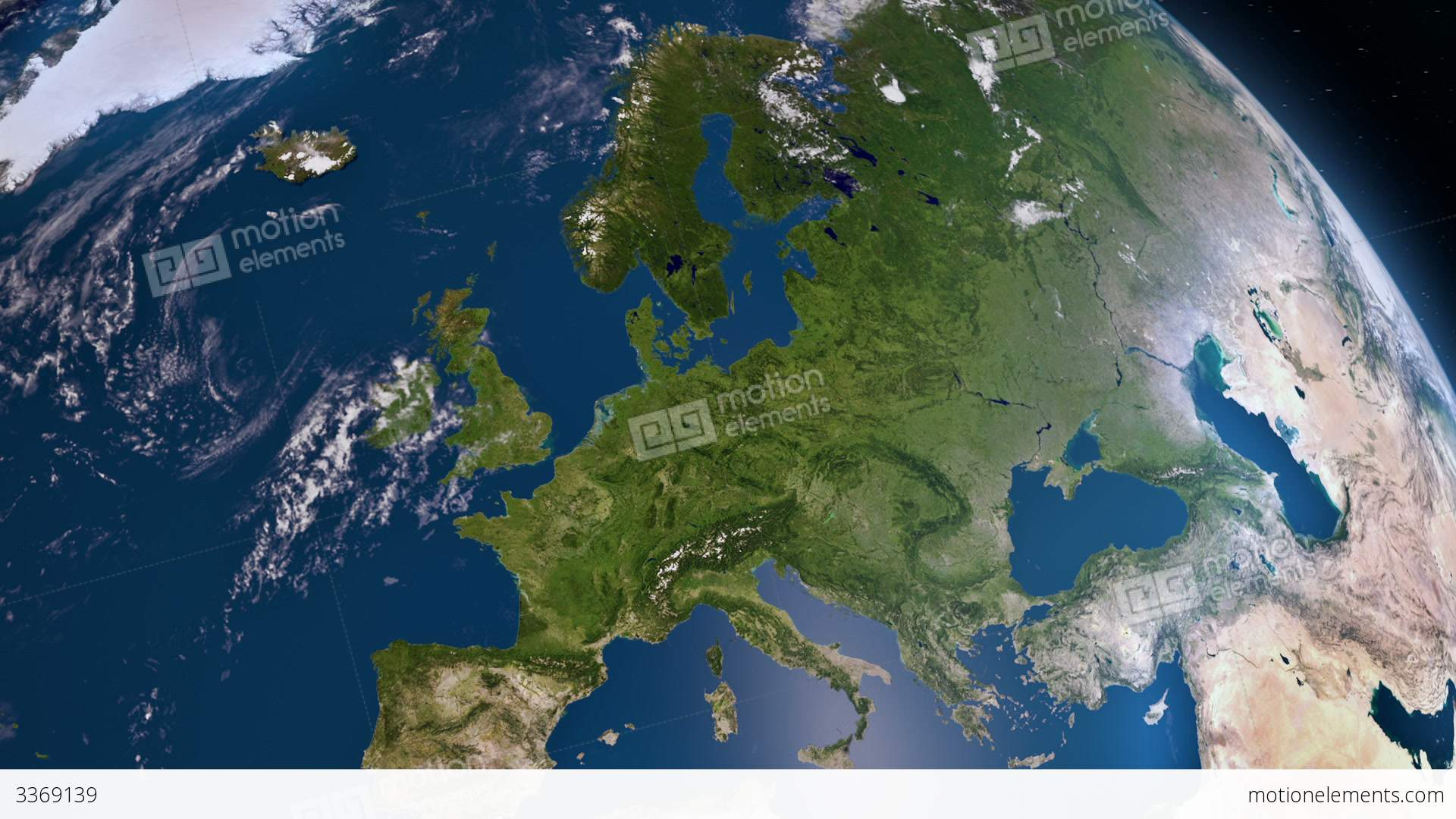 Earth 3d view from space europe stock animation 3369139 earth 3d view from space europe stock video footage gumiabroncs Choice Image