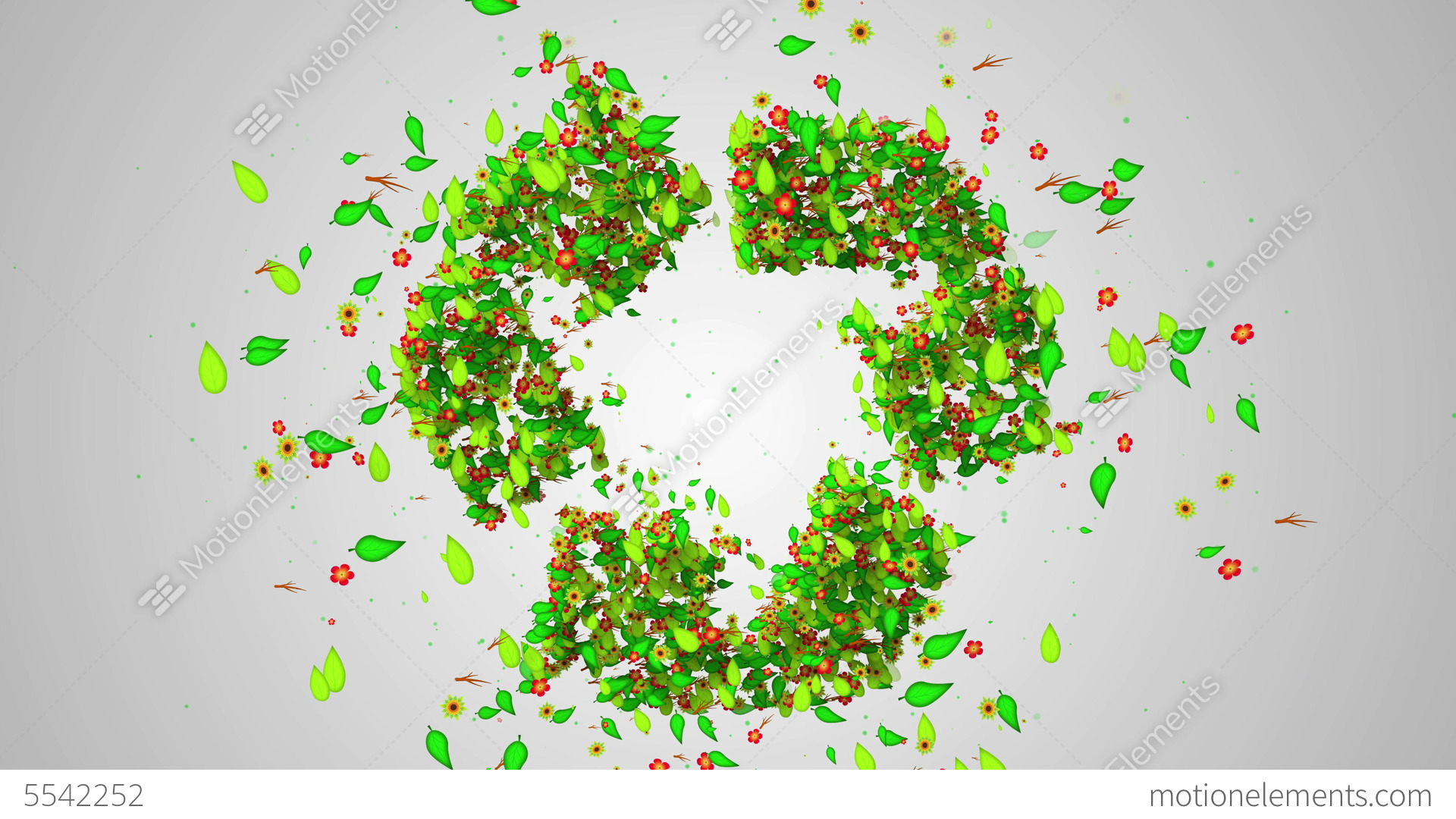 Recycle symbol green leaves particles butterfly stock animation recycle symbol green leaves particles butterfly stock video footage biocorpaavc Images