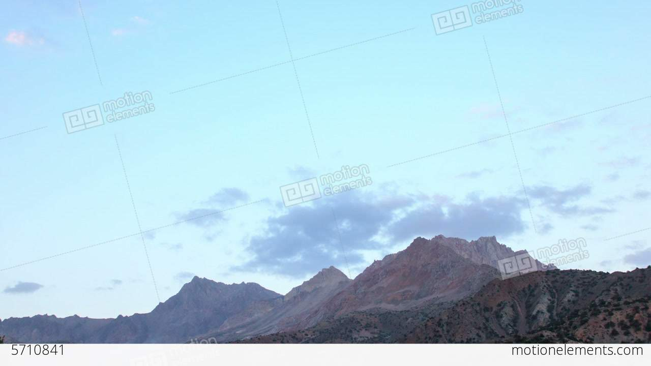 sunset in the mountains time lapse tajikistan 1 動画素材 5710841