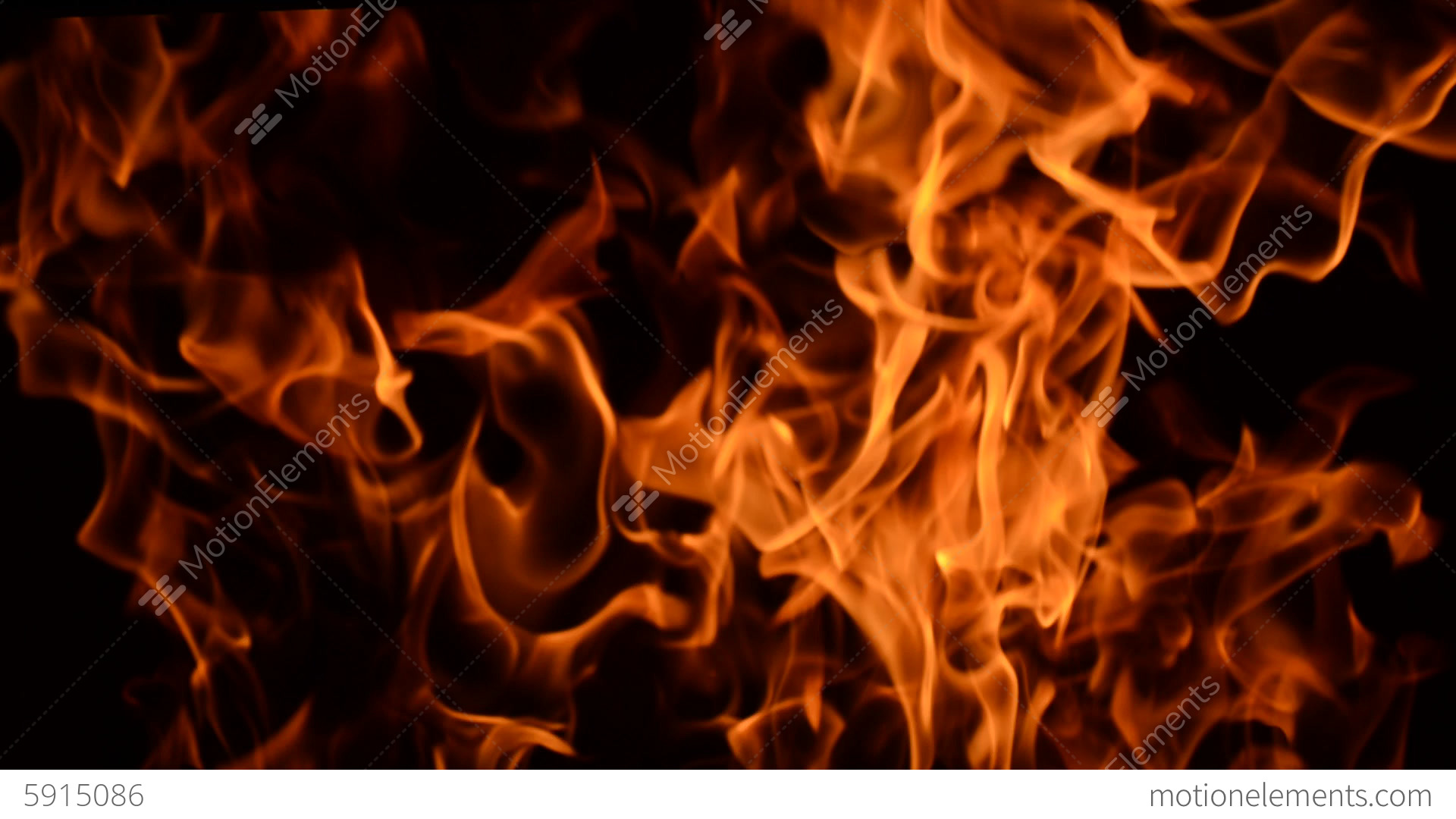 fire burning close up view low key effect stock video footage