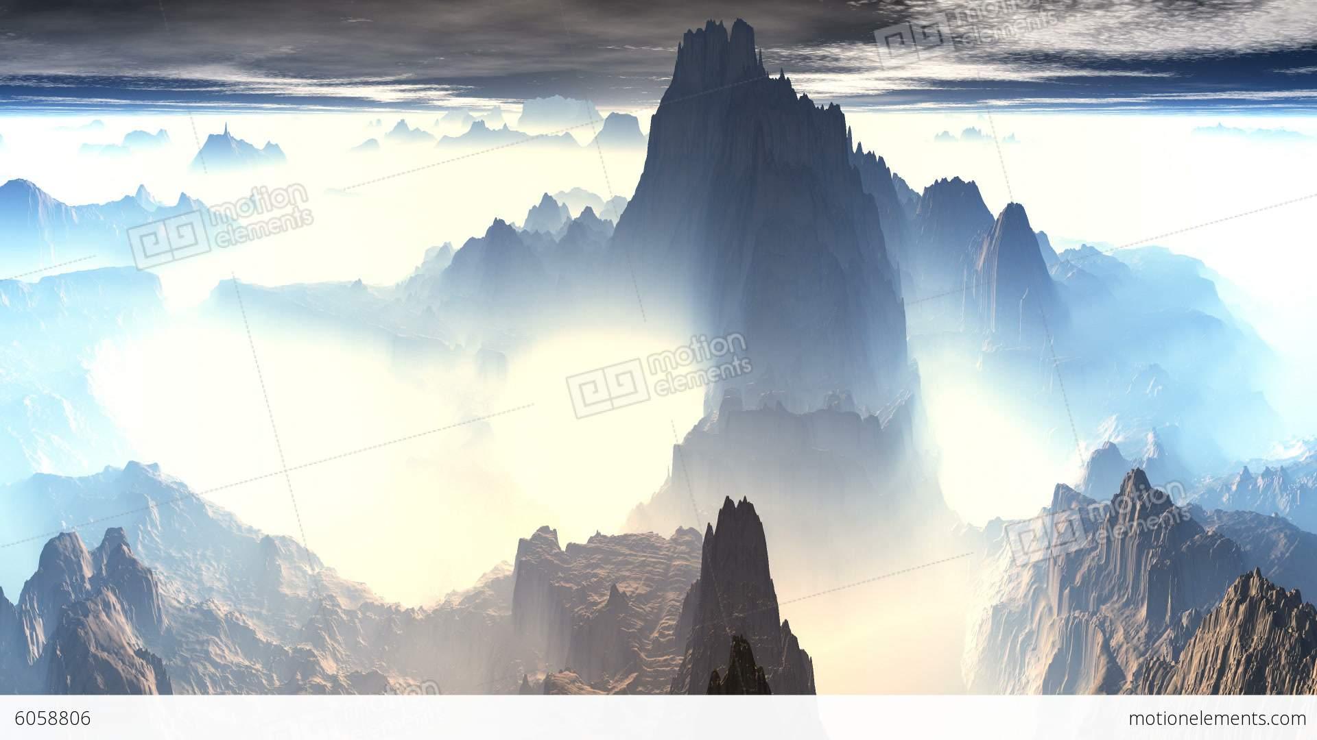 Mountain Peaks Of Fog Stock Animation | 6058806