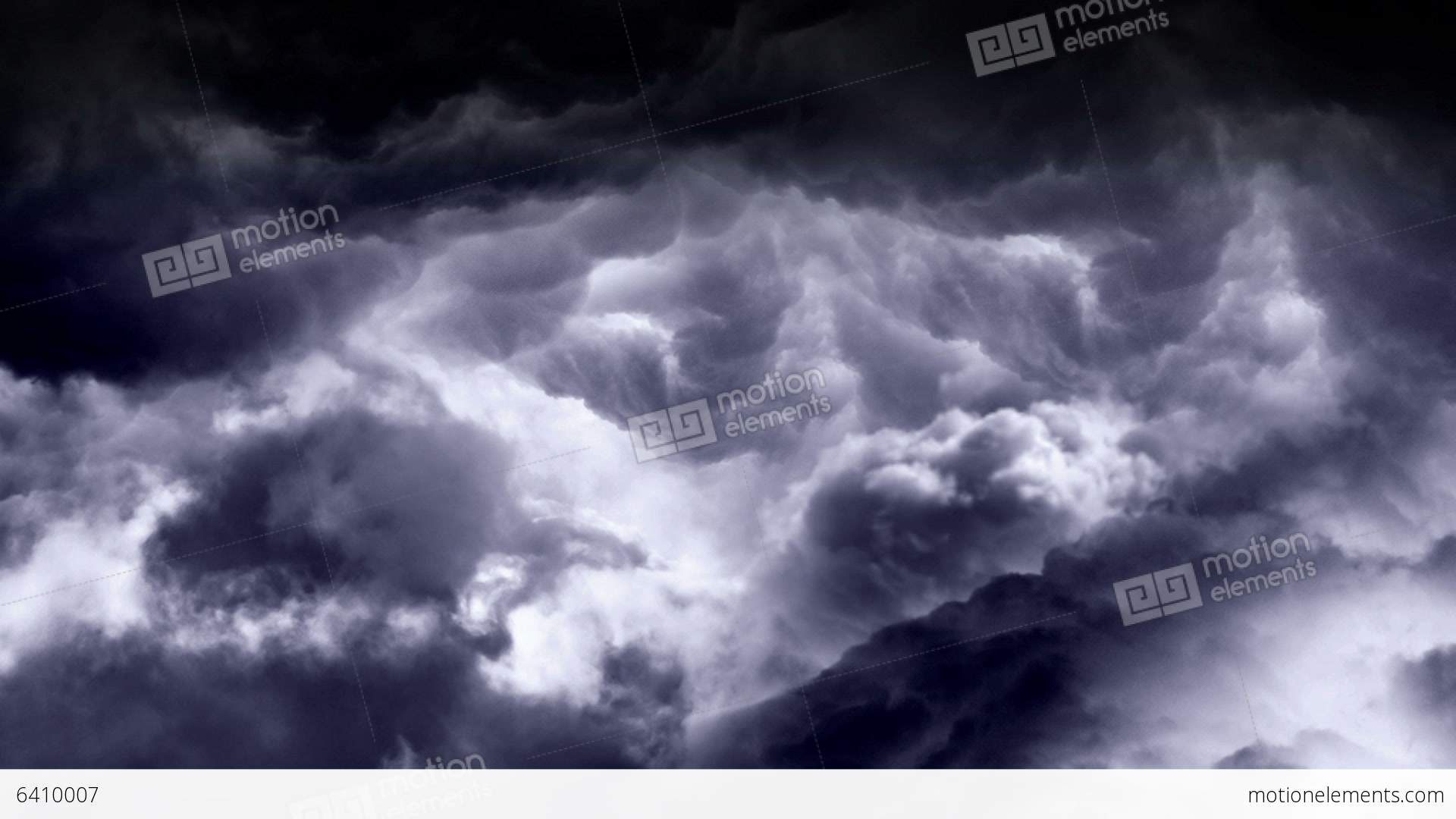 Fly Through Rain Clouds Loopable Stock Animation | 6410007