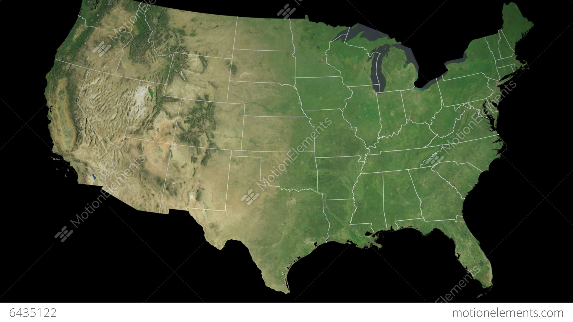 Texas State USA Extruded On The Satellite Map Of Stock Animation - Texas state usa map