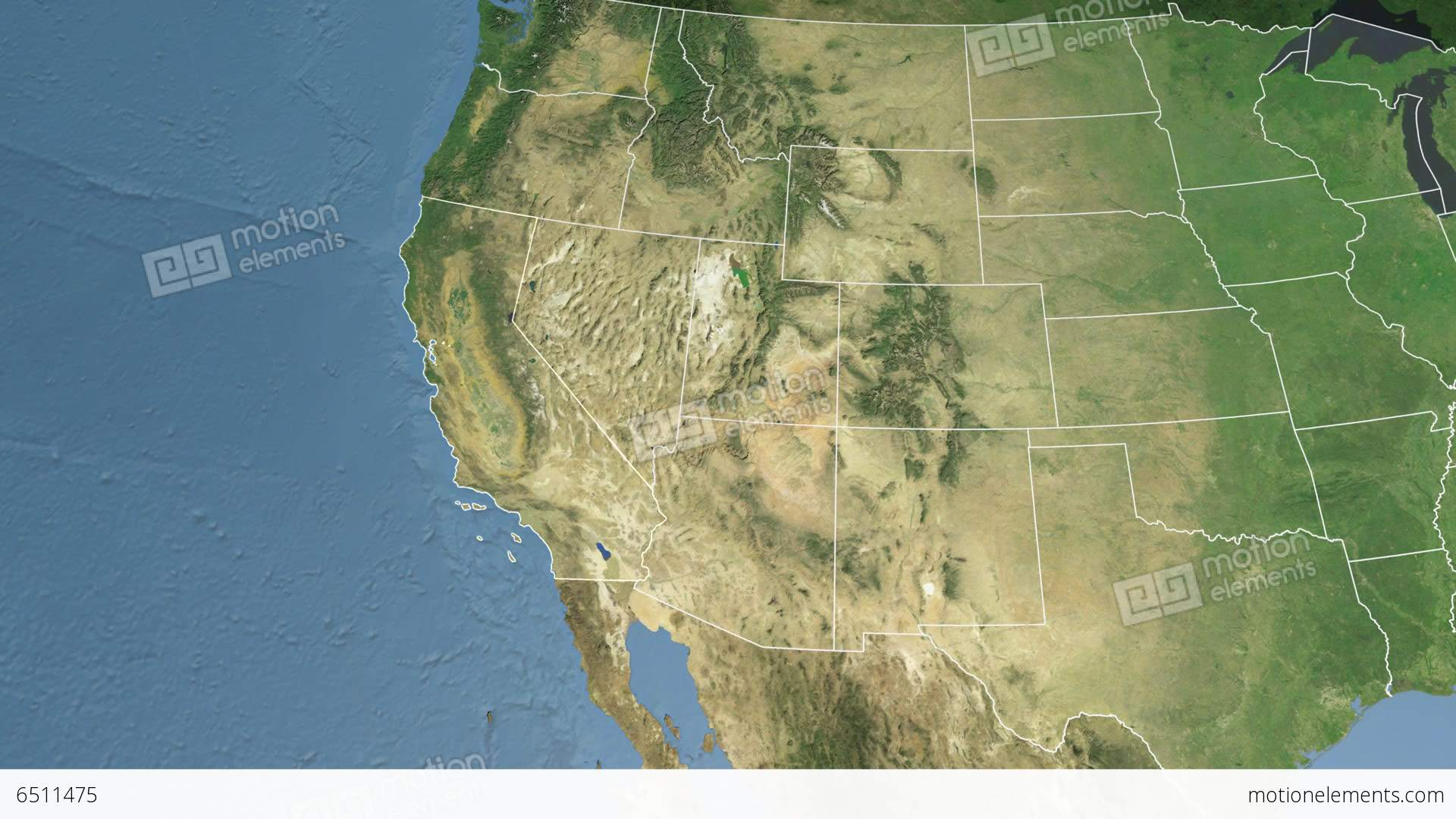 California State USA Extruded Satellite Map Stock Animation - Hd satellite map
