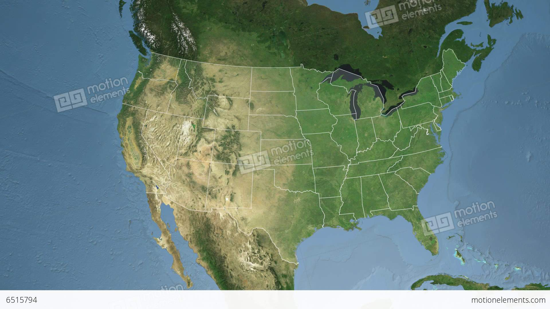 Maine State USA Extruded Satellite Map Stock Animation - Maine state usa map