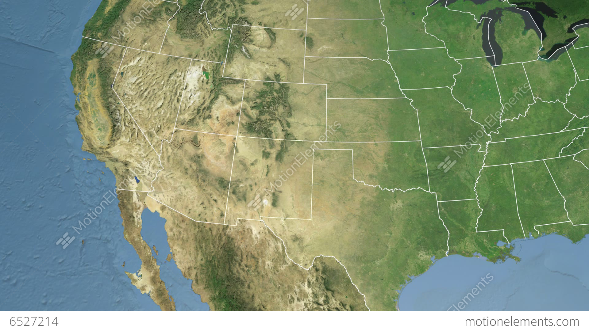 New Mexico State USA Extruded Satellite Map Stock Animation - Hd satellite map
