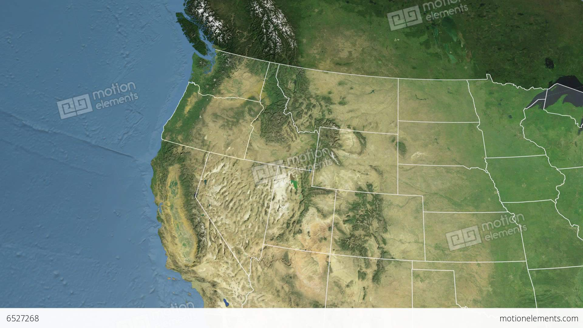 Oregon State USA Extruded Satellite Map Stock Animation - Usa map oregon state