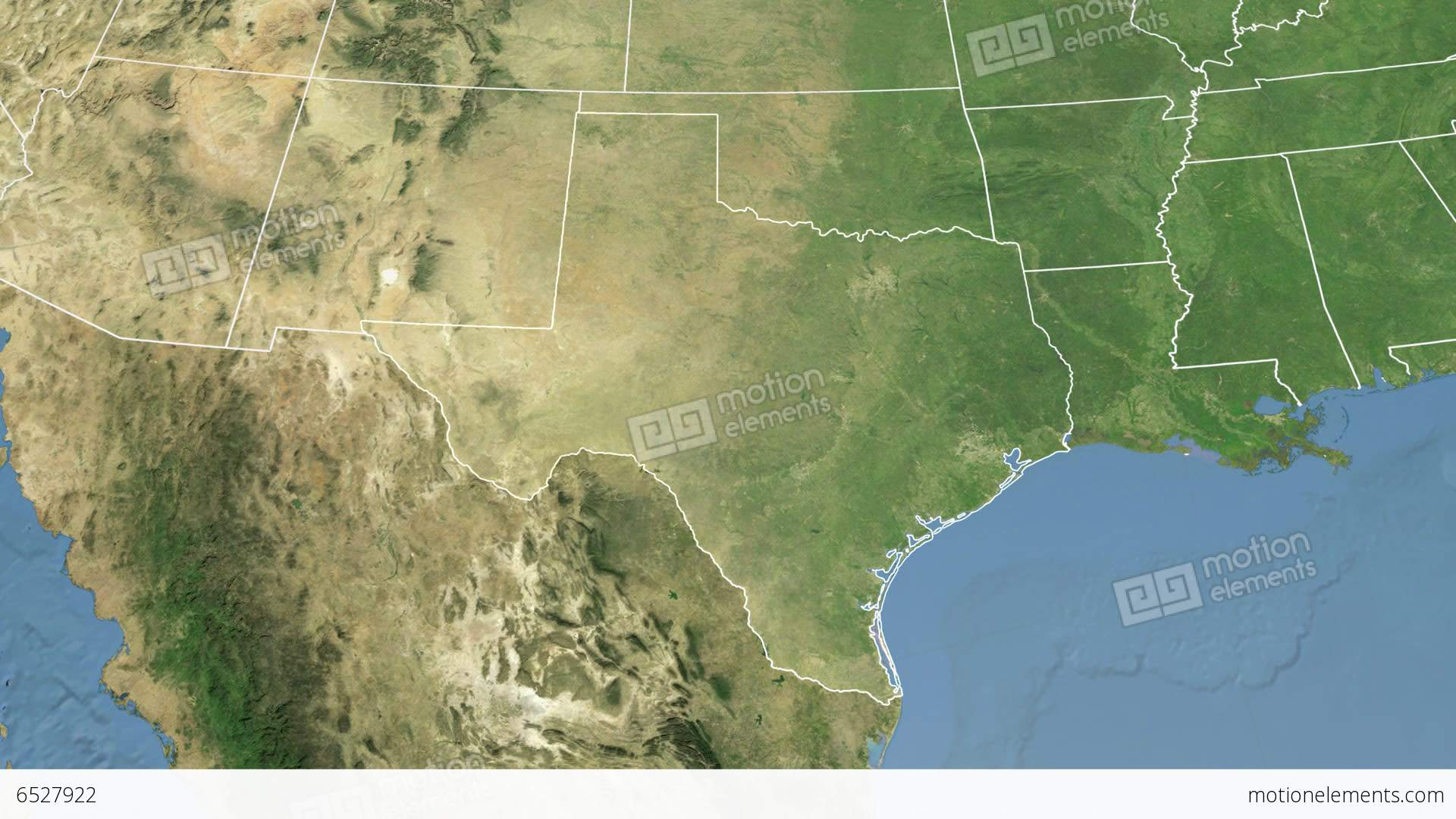 Texas State Usa Extruded Satellite Map Stock Animation 6527922