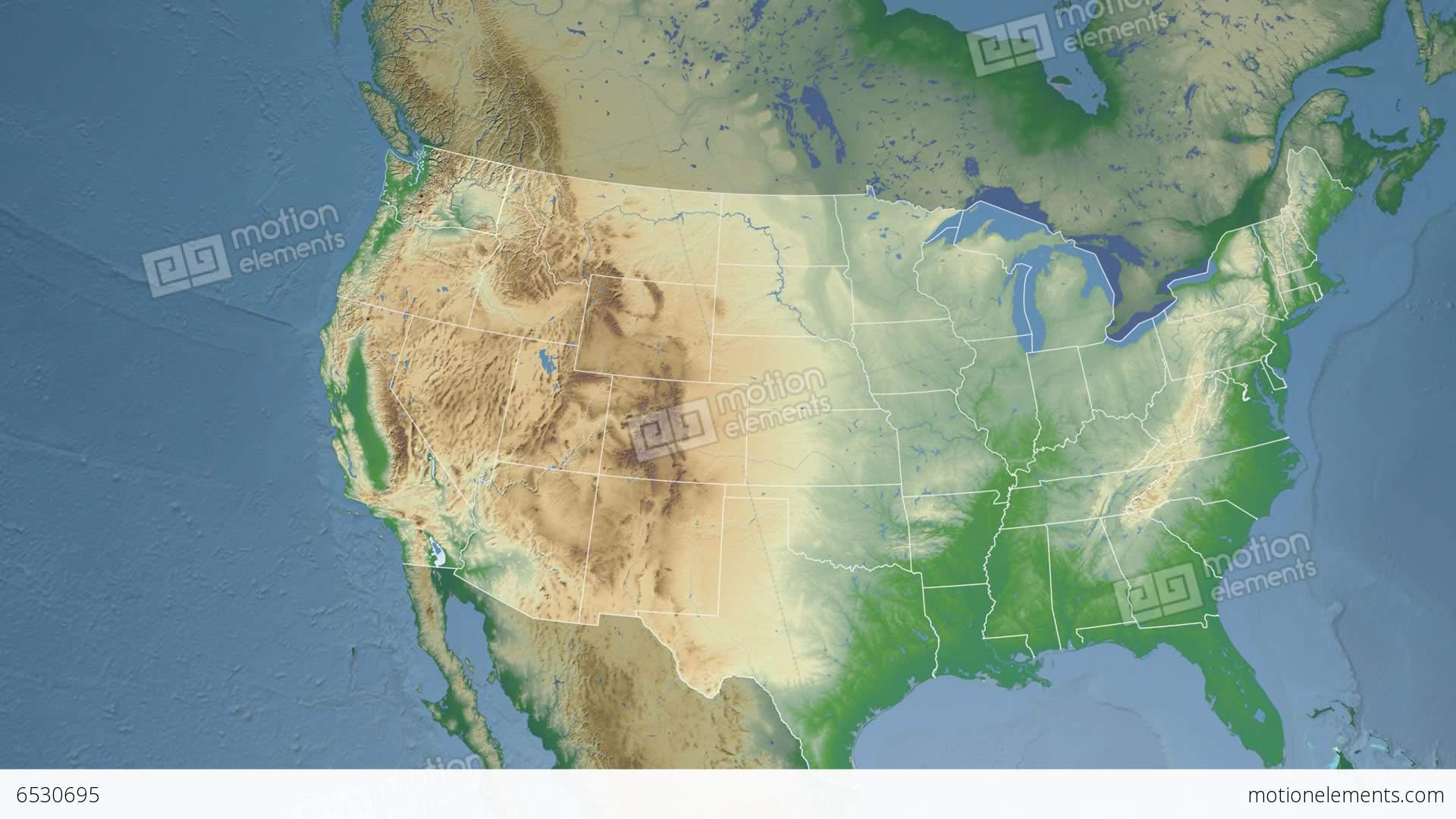 Washington State USA Extruded Physical Map Stock