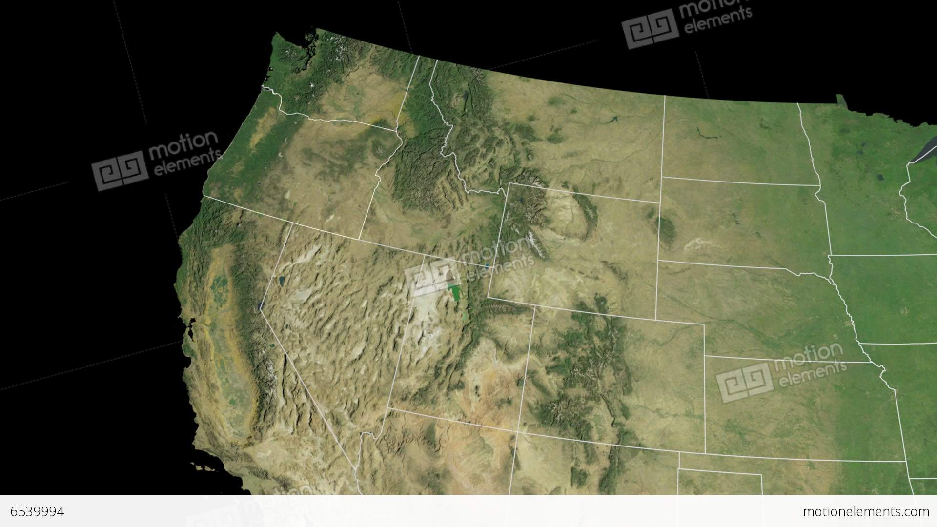 Oregon State USA Extruded On The Satellite Map O Stock Animation - Map of oregon state usa