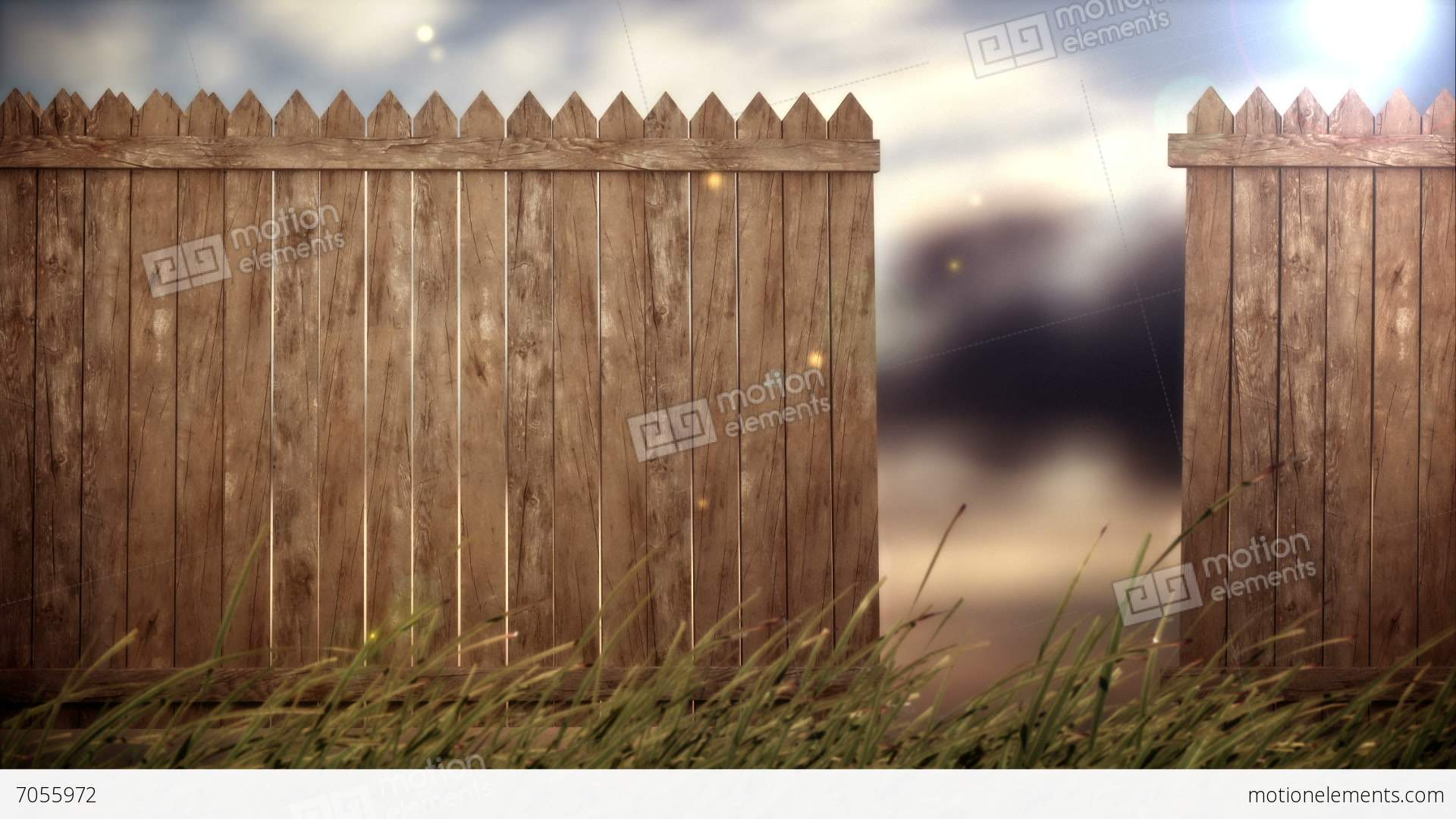 Open Old Wood Fence On Forest Background Stock Video Footage