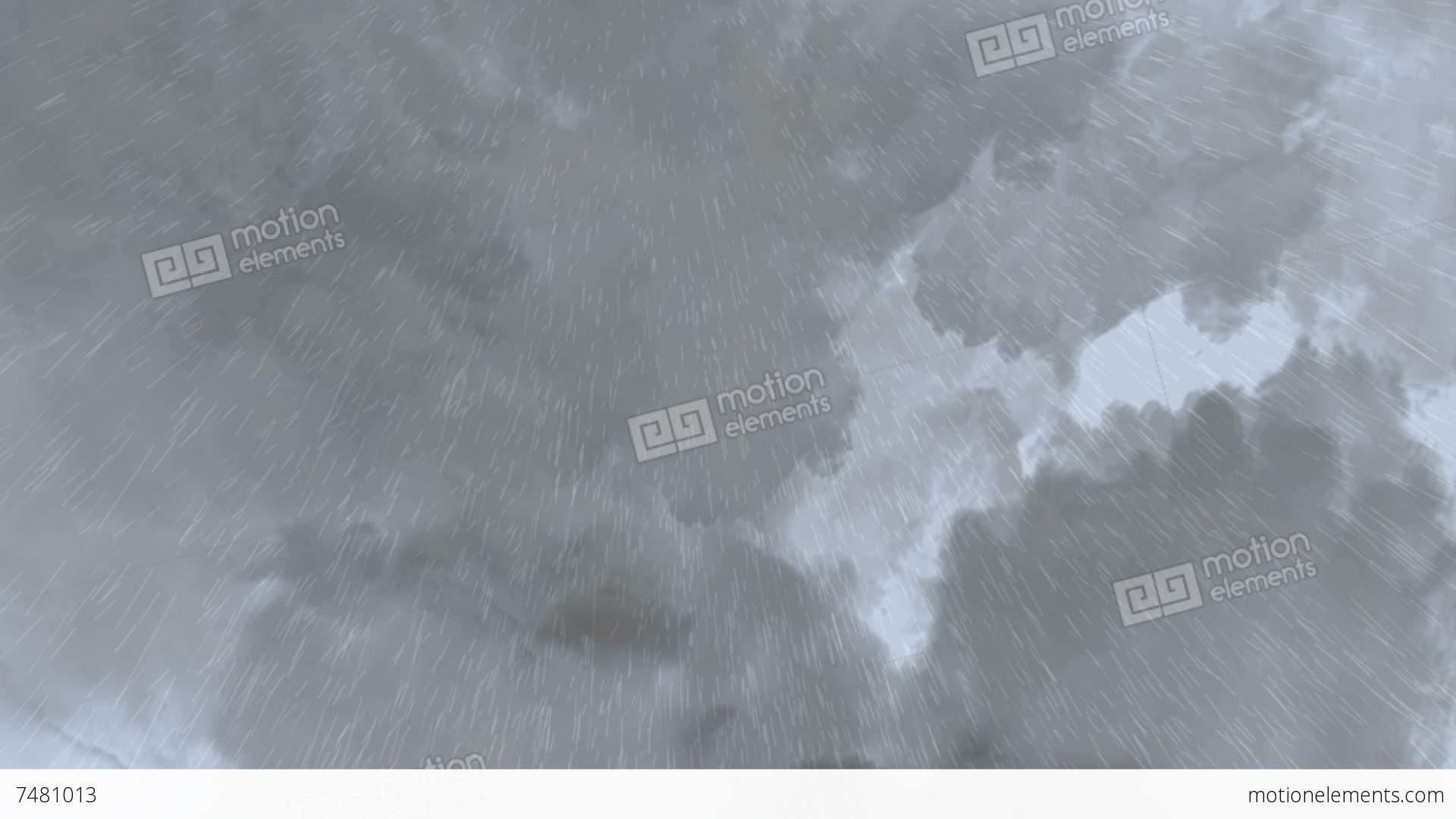 CG Animation Of Rain Cloud Moving In The Sky Stock ...