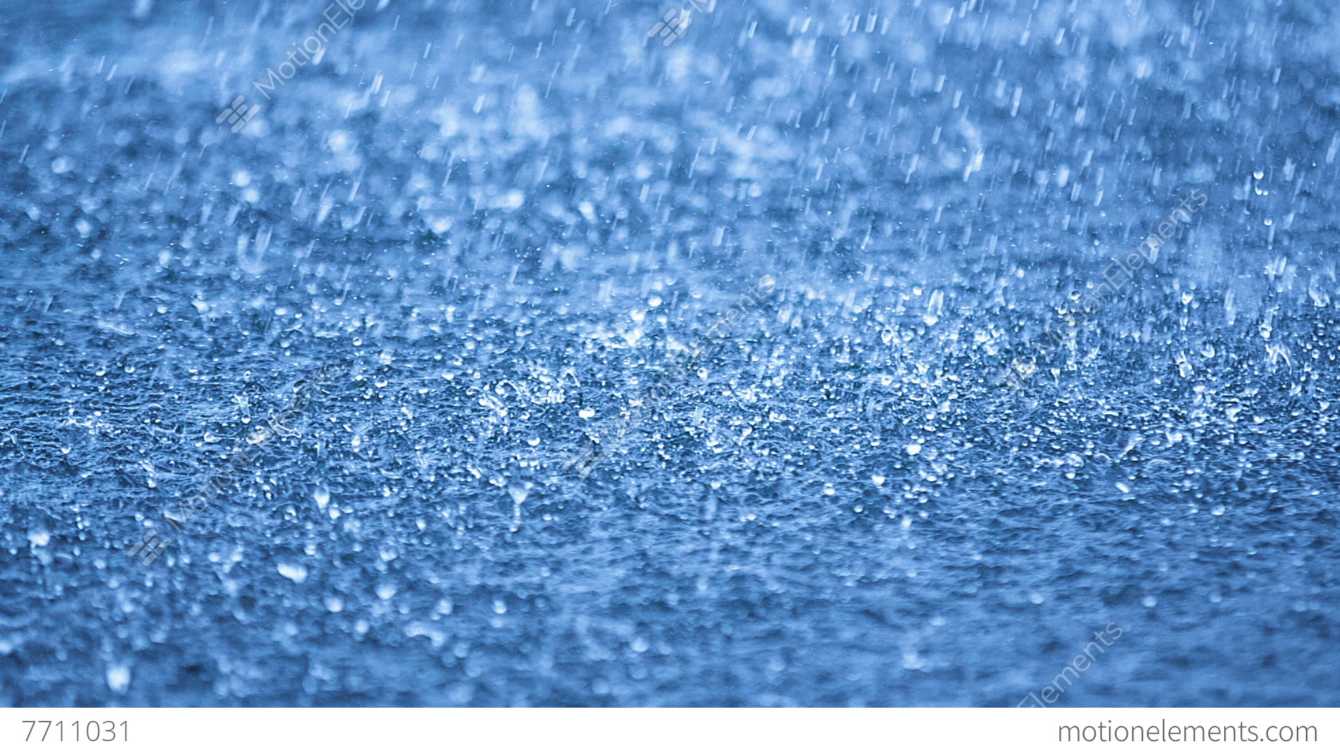 Unique Raindrops Falling On Blue Water Dof And Ideas