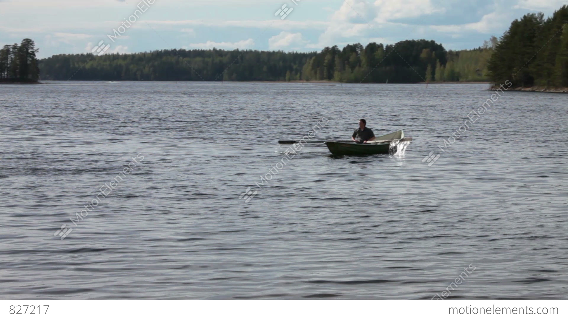 nature in which boat floats Autumn forest and the lake on which the boat floats , bright colors, wildlife.