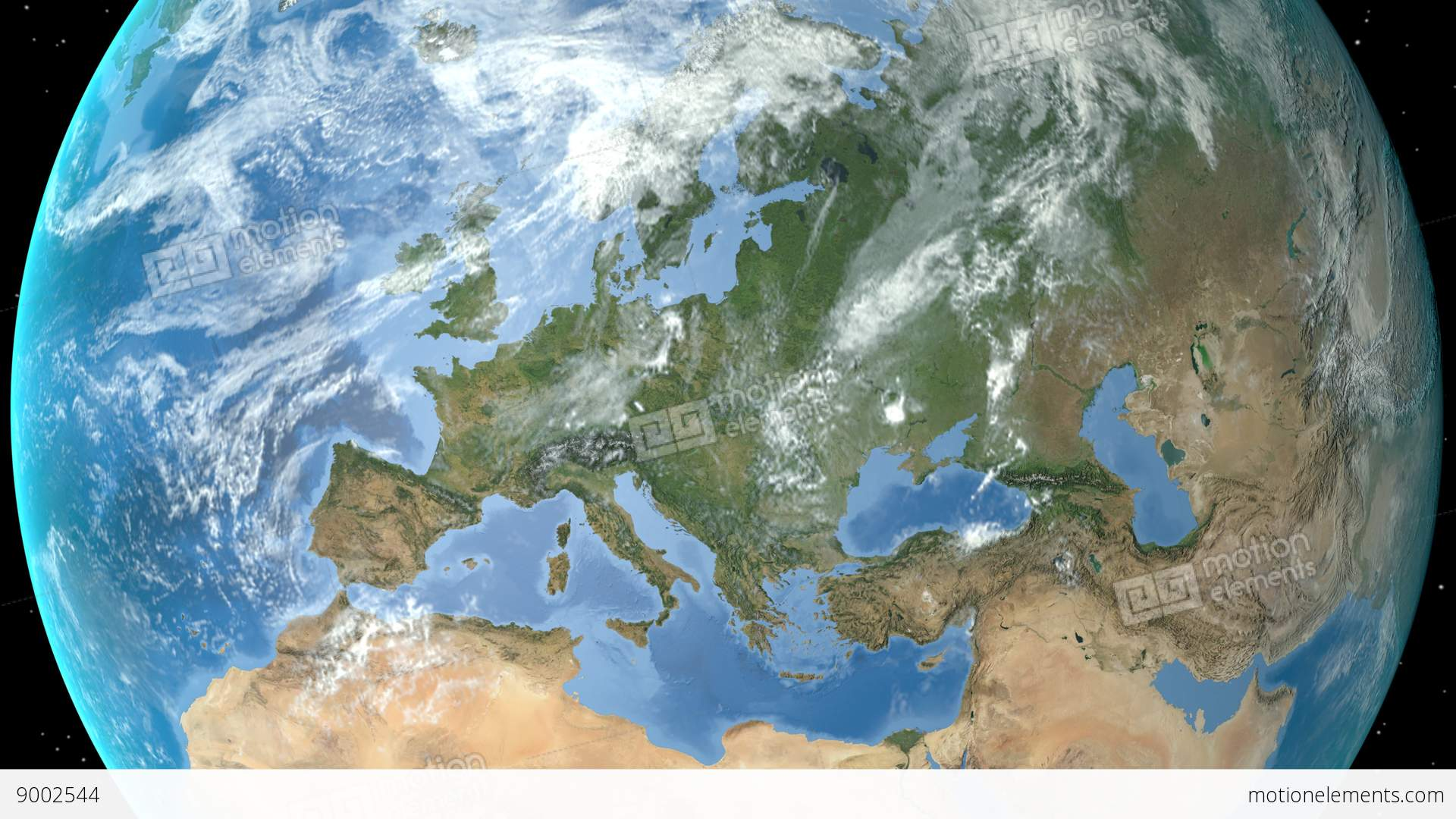 Night to day rotating earth zoom in on denmark outlined stock night to day rotating earth zoom in on denmark outlined stock video footage gumiabroncs Images