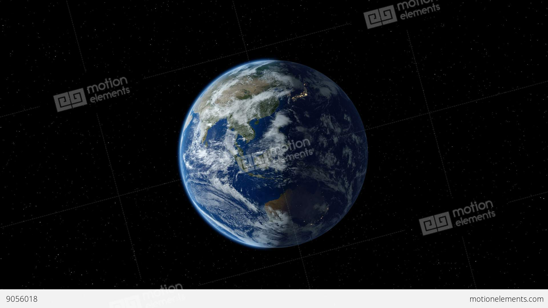 Earth Zoom To North America Through The Layer Of Clouds ...