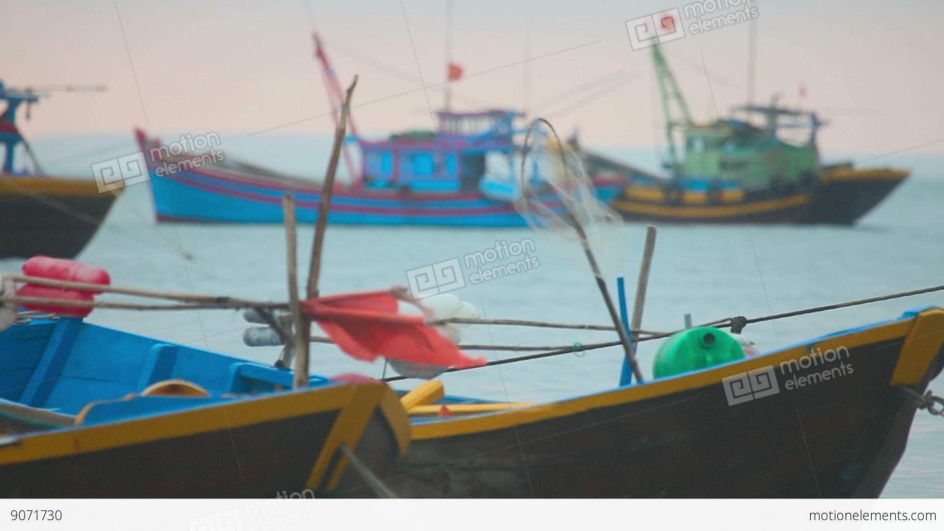 Fishing boats in the bay near the village of mui ne stock for Boat fishing near me