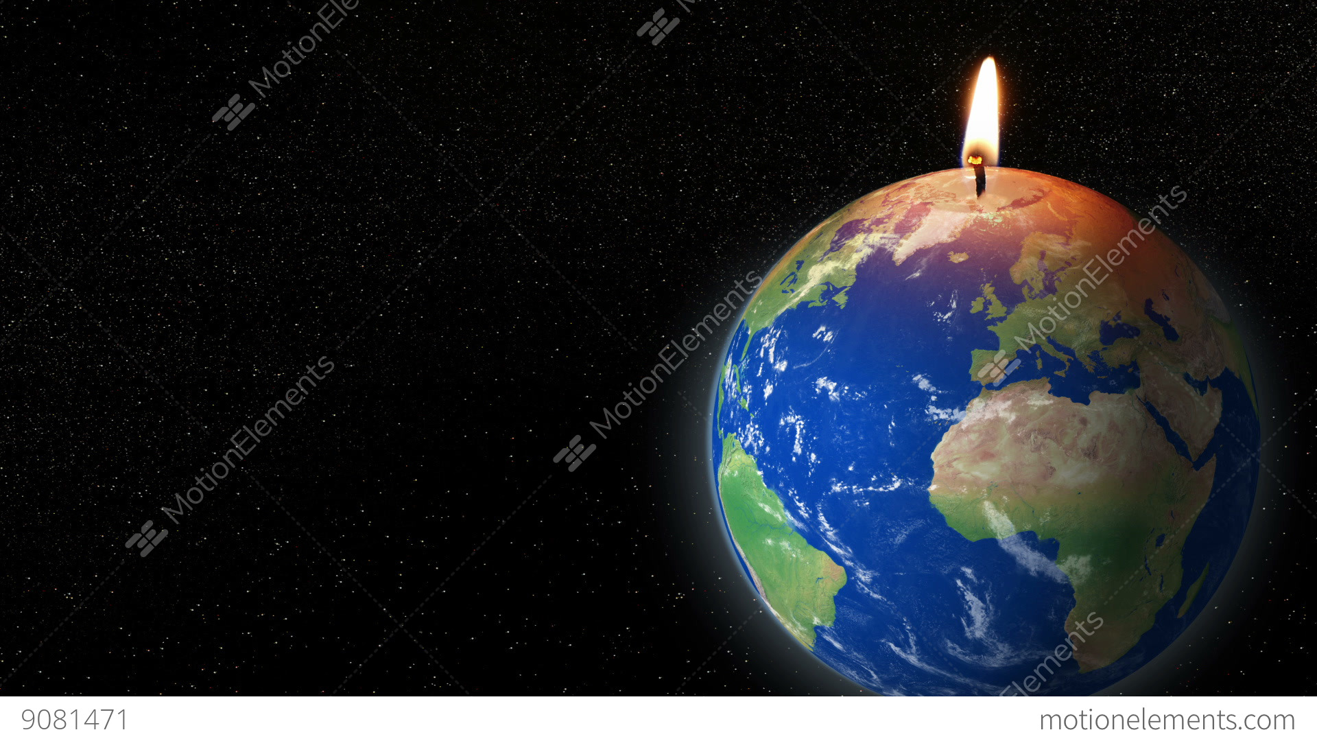 Global Warming Earth Candle No Planet B 11785 Stock ...