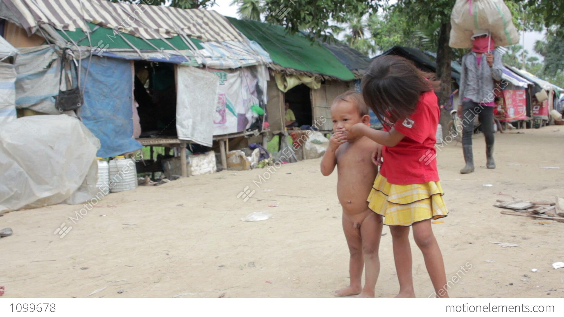 Progressive Near Me >> Kids In Cambodian Slums Stock video footage | 1099678
