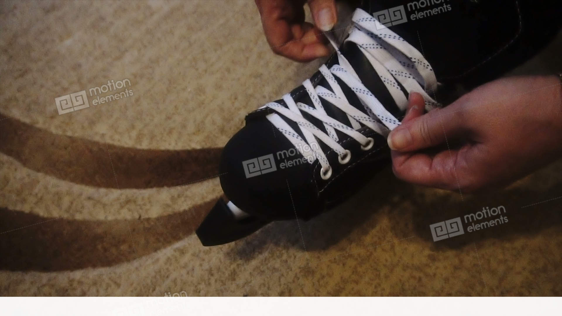 how to stop on ice skates video