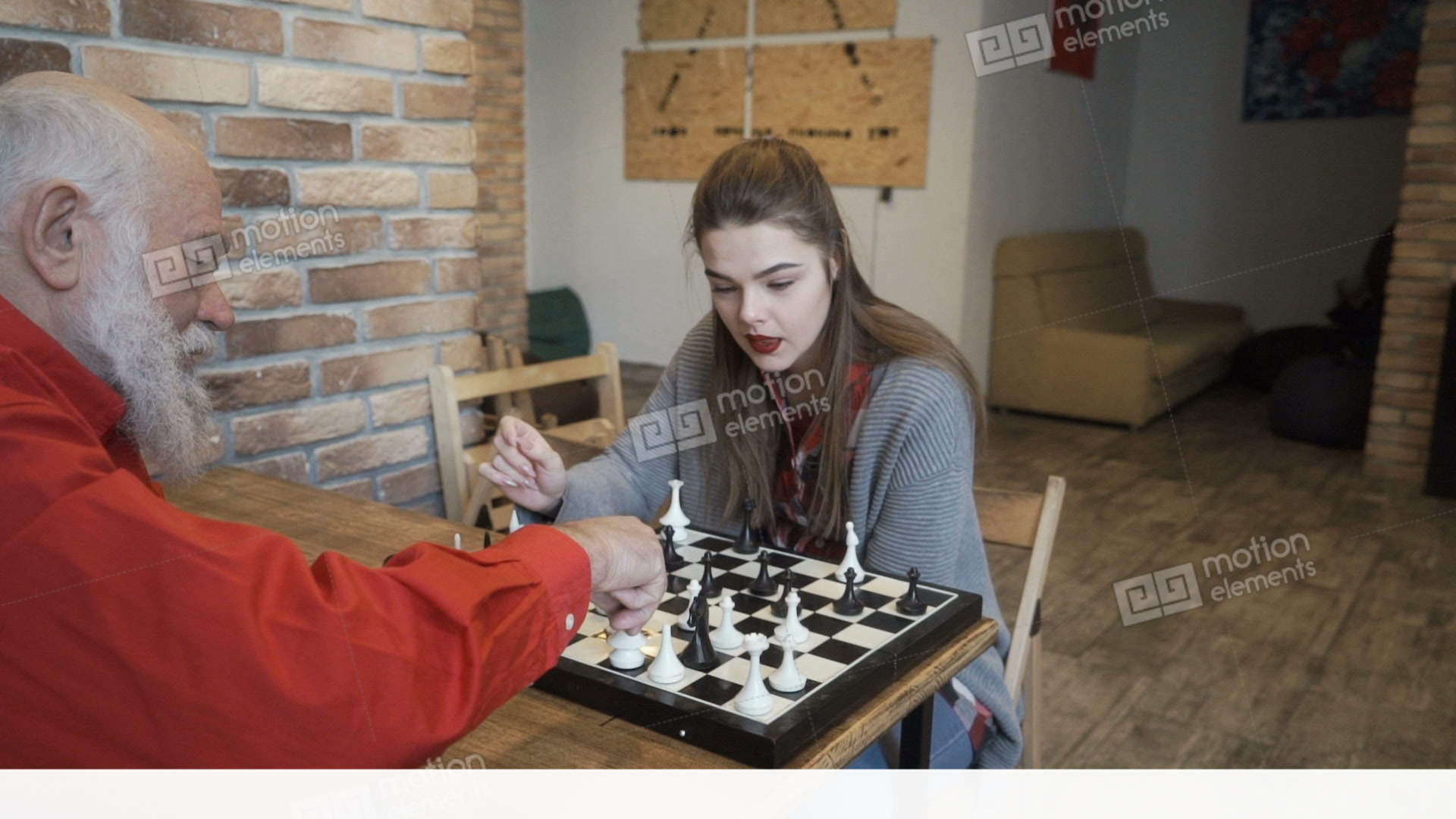 Grandpa plays chess and fucks a young girl 4