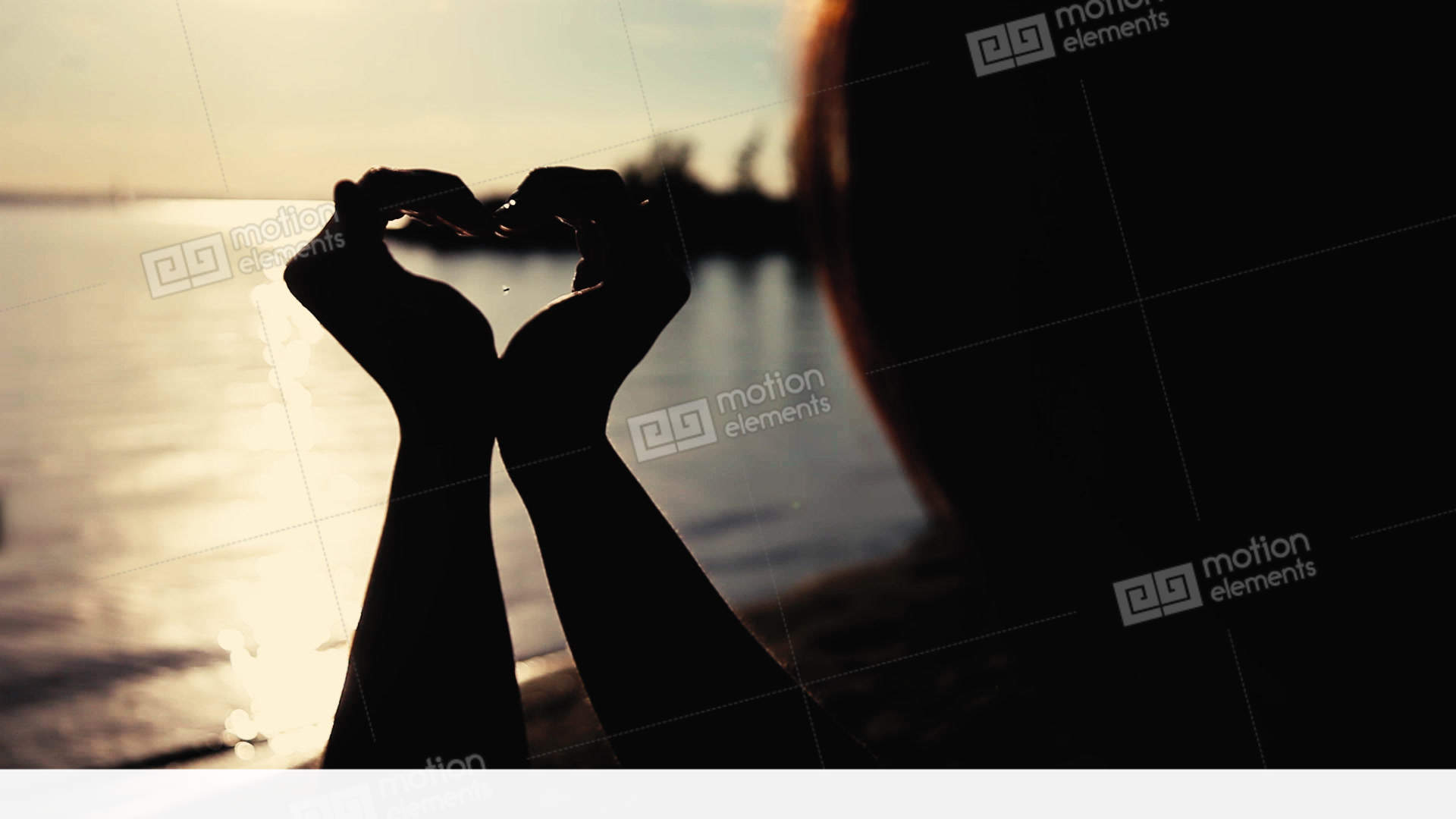 Love A Girl Makes A Beautiful Heart Symbol With Both Hands During