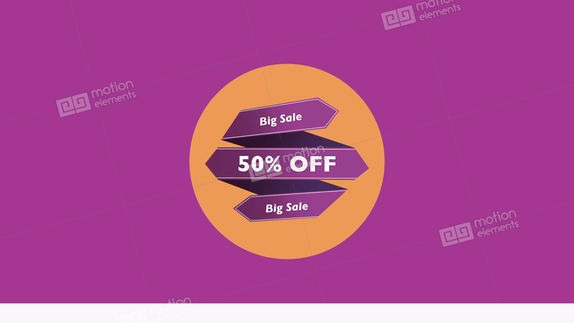 Big Sale 50 Intro Titles Transition Alpha Background Discount