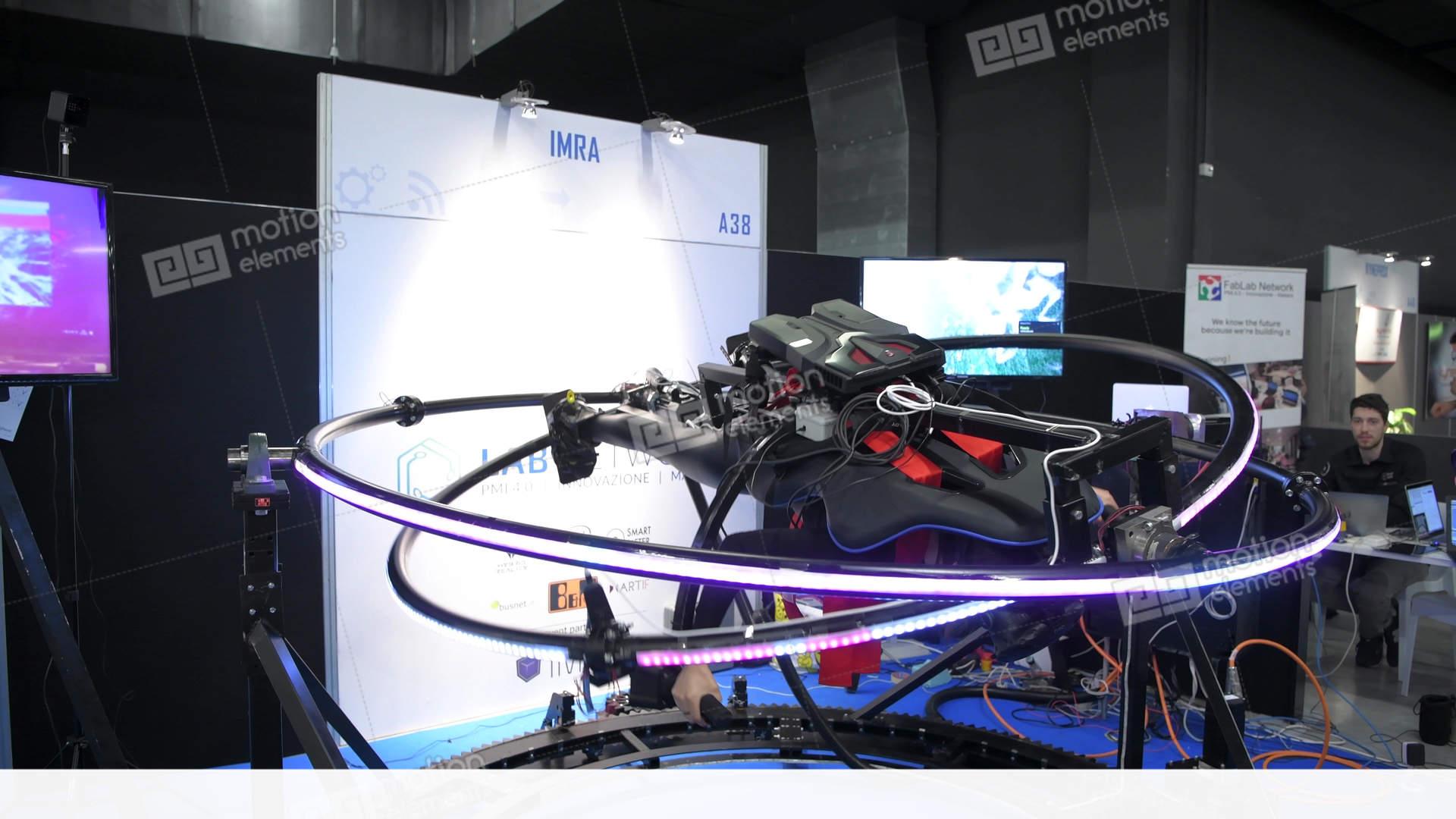 f56751bcaf2 Virtual Reality Gyroscope Simulator Stock video footage