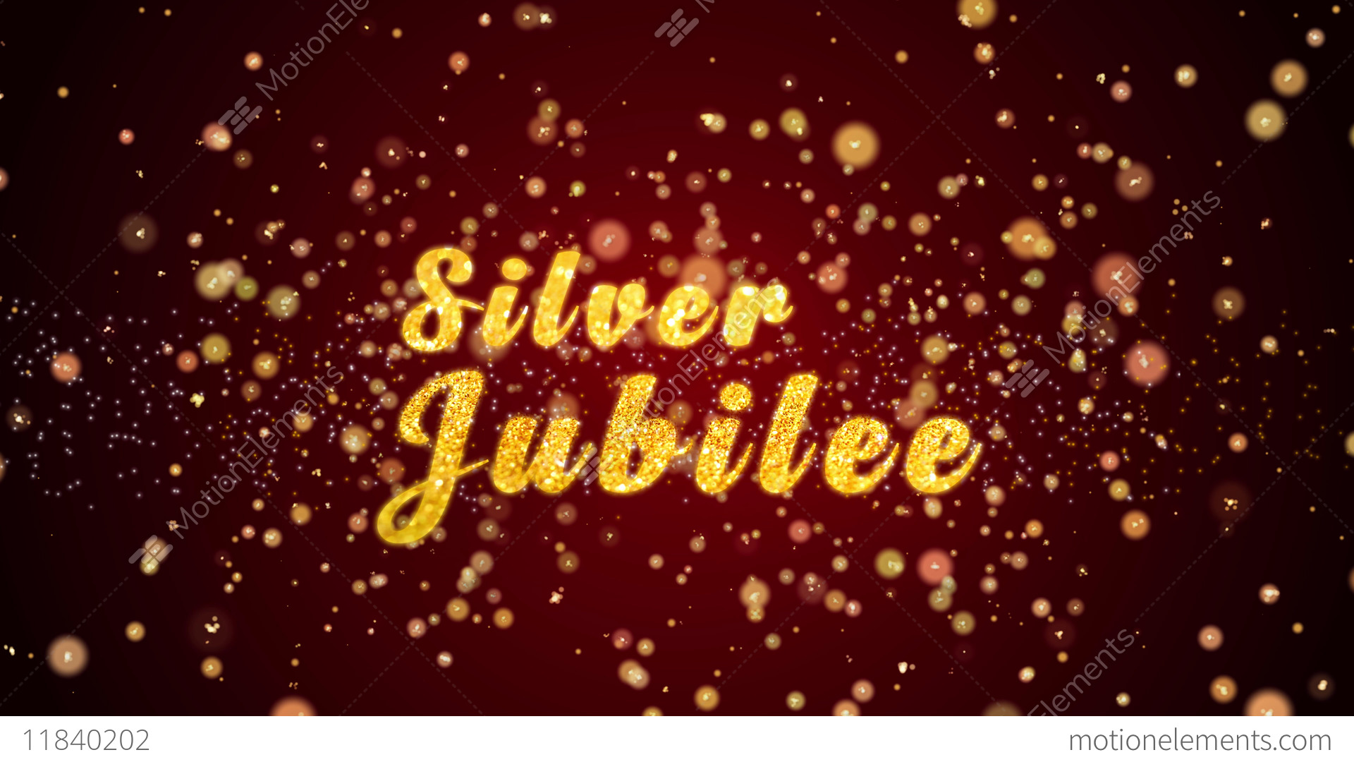 Silver Jubilee Greeting Card Text Shiny Particles For Celebration ...