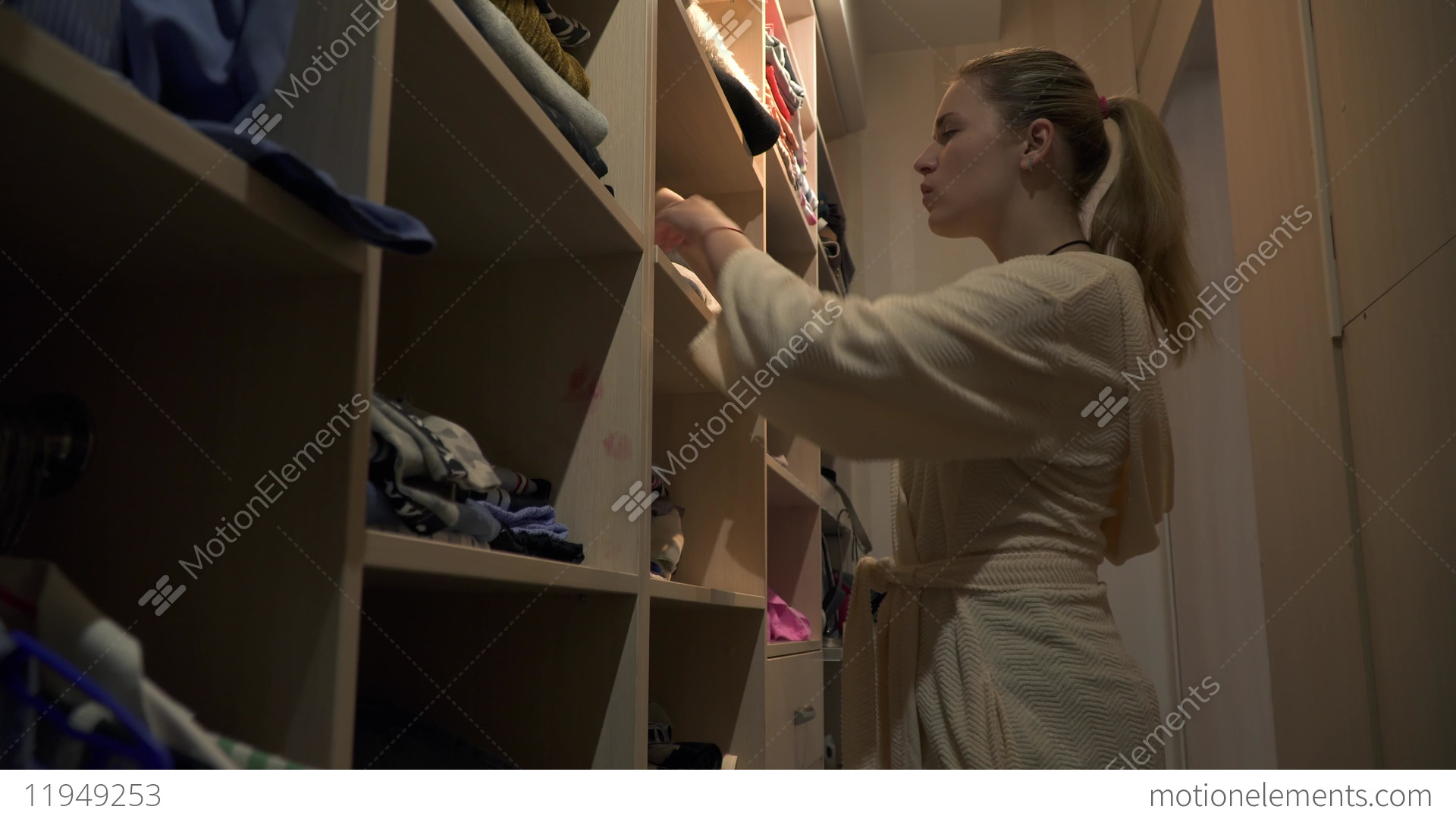 Young girl dressing room