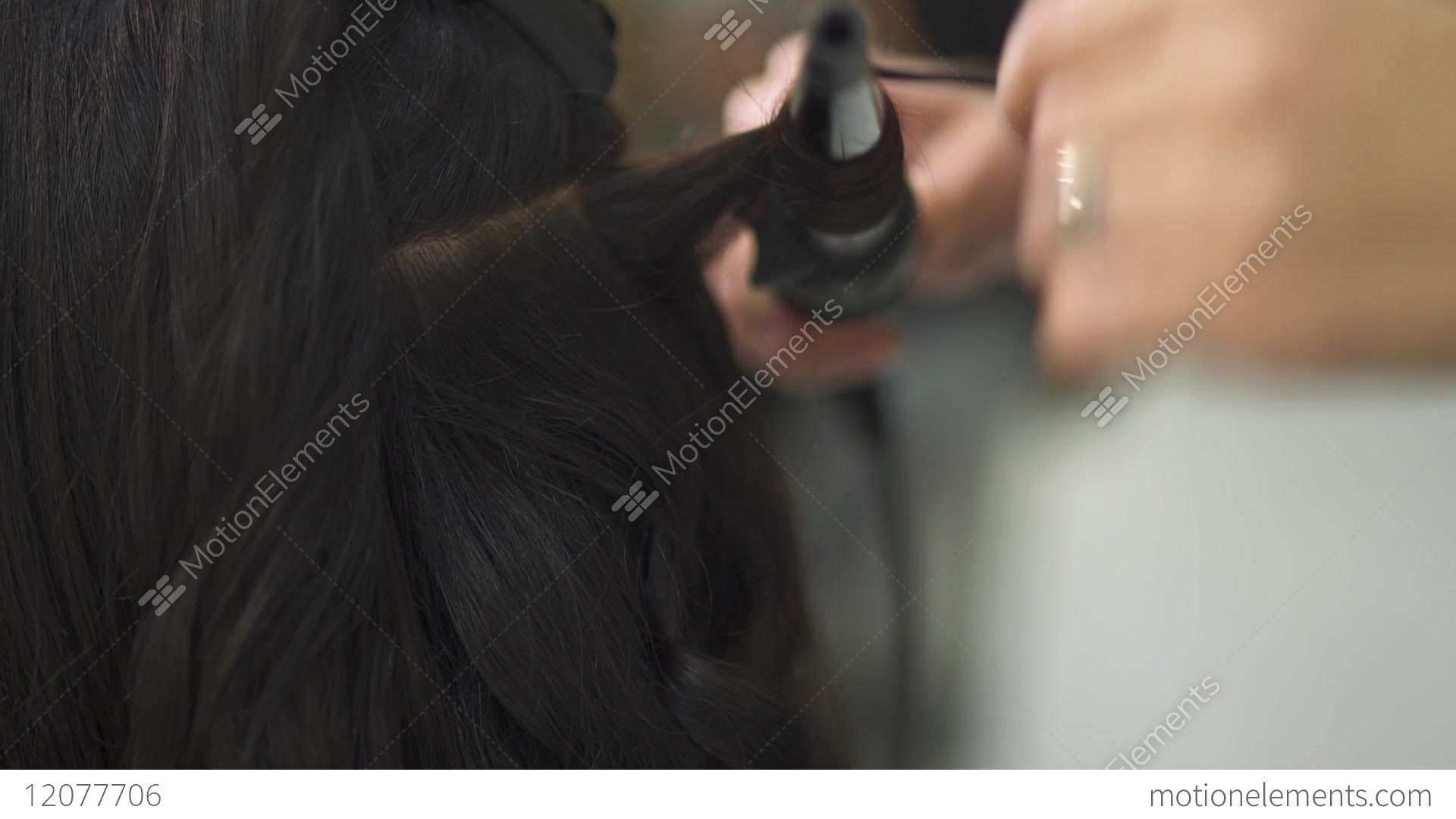 Beautiful Girl Does A Hairstyle In A Beauty Salon Stock Video