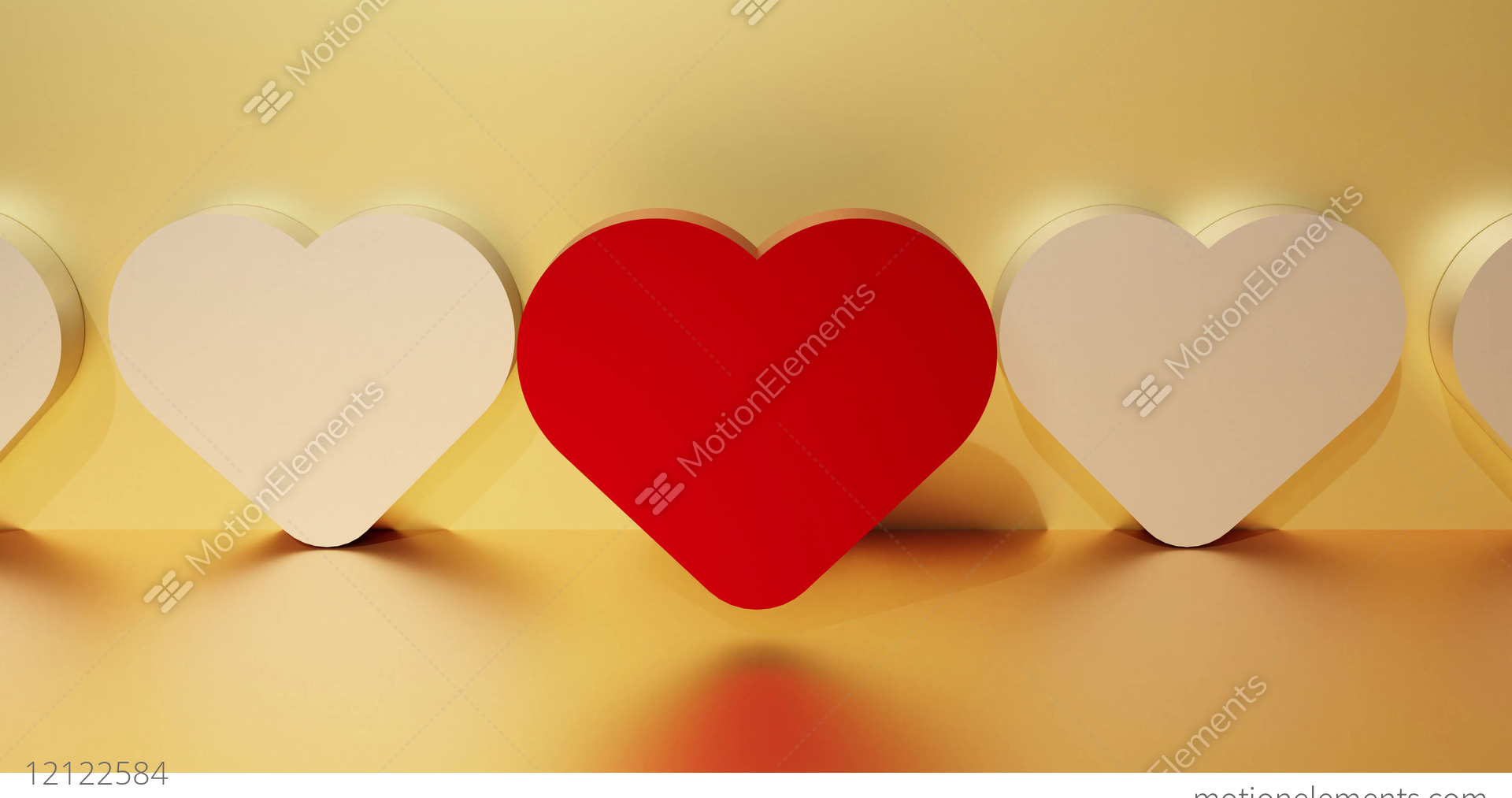Red Heart As A Symbol Of Love Dating Service Search Concept 3d