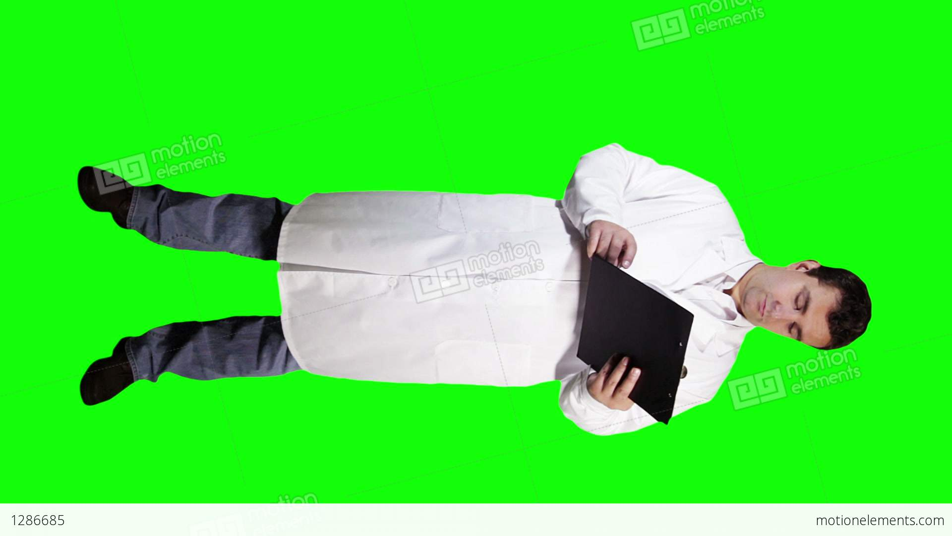 Young Doctor Scientist Full Body Checking Documents Bad Stock Video Footage