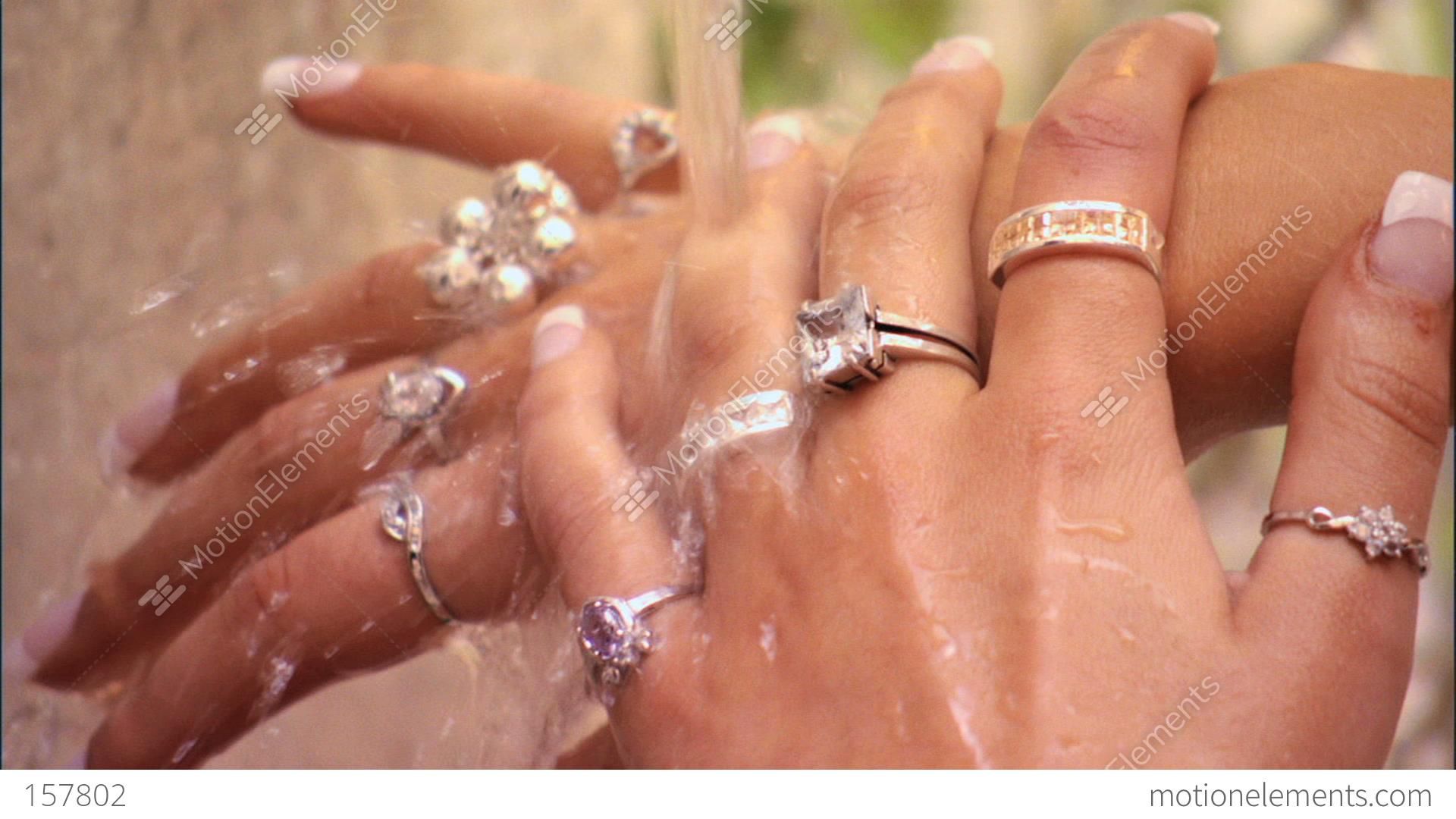 Beautiful Hands & Jewellery Stock video footage | 157802