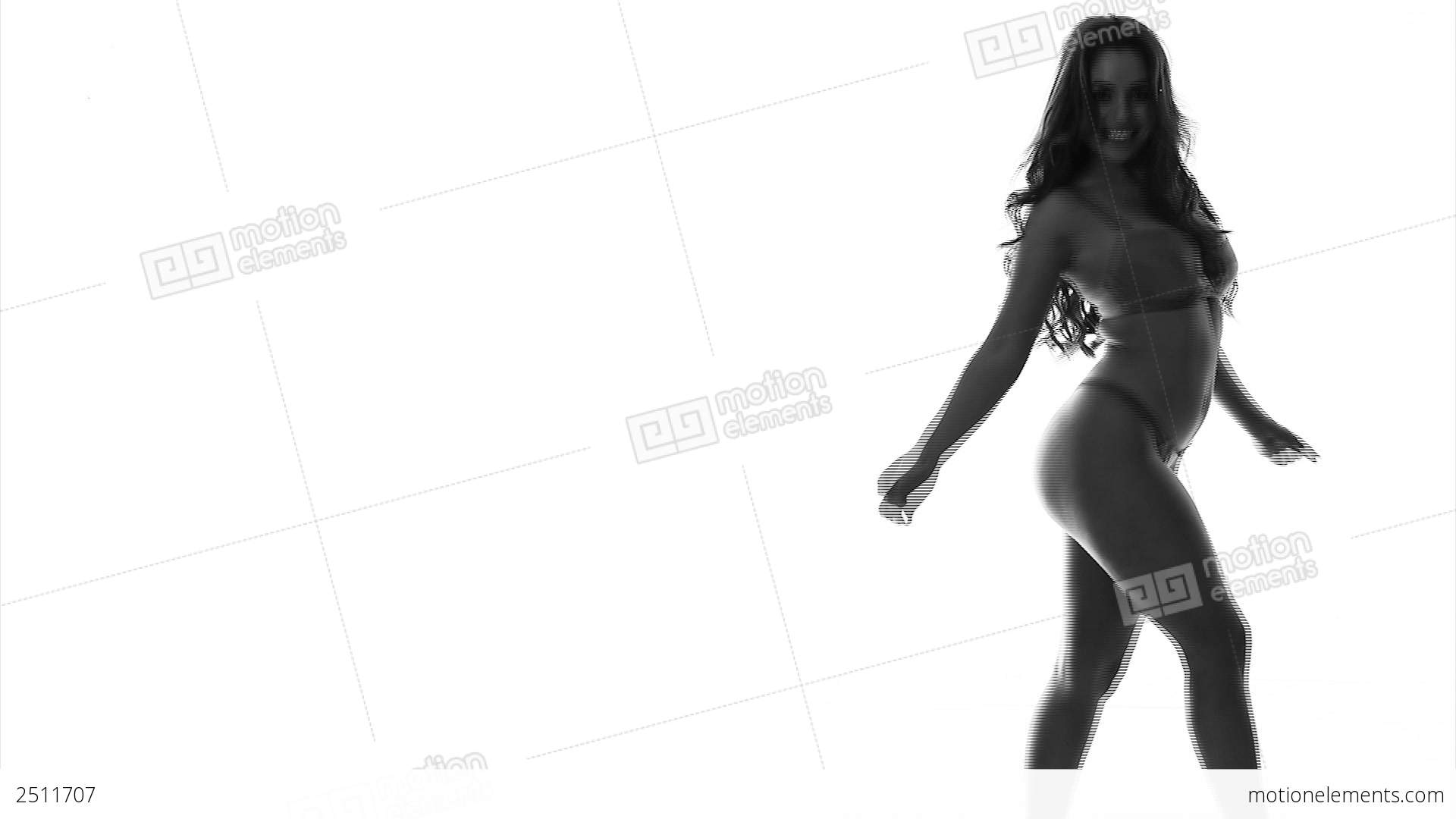 Silhouette sexy girl