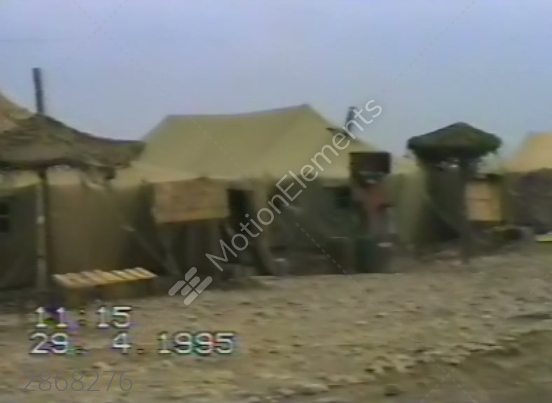 Tent town of the Russian military in Khankala. Che Stock Video Footage & Tent Town Of The Russian Military In Khankala. Che Stock video ...
