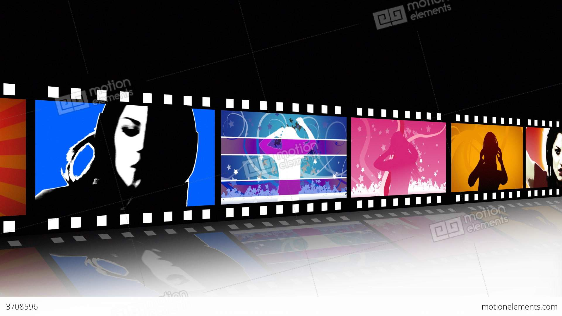 Entertainment Movie Film Strip Stock Animation | 3708596