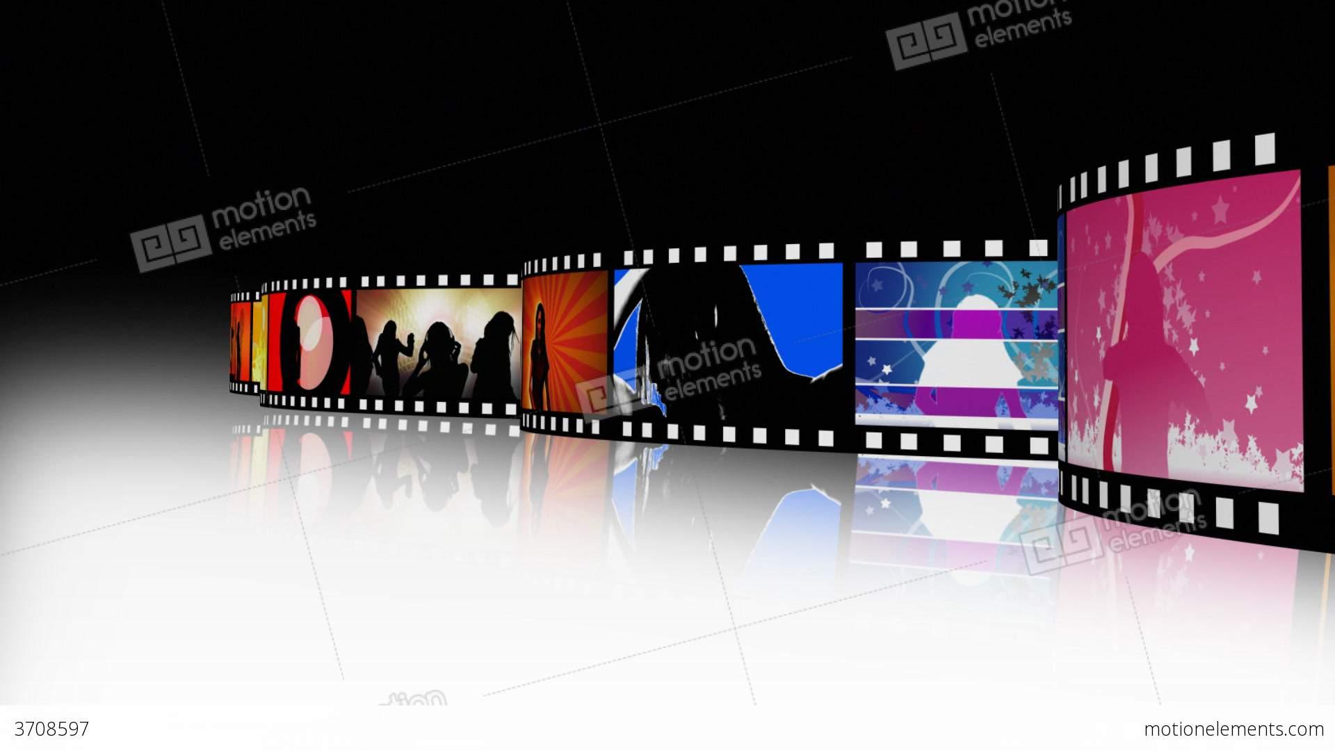 Entertainment Movie Film Strip 2 Stock Animation  3708597