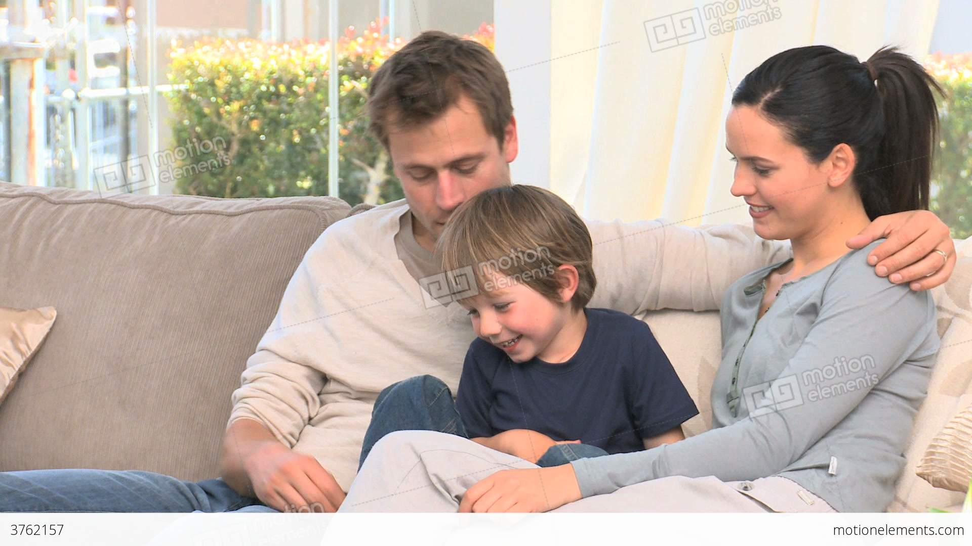 Familly Tallking Together On A Sofa Stock Video Footage | Royalty ...