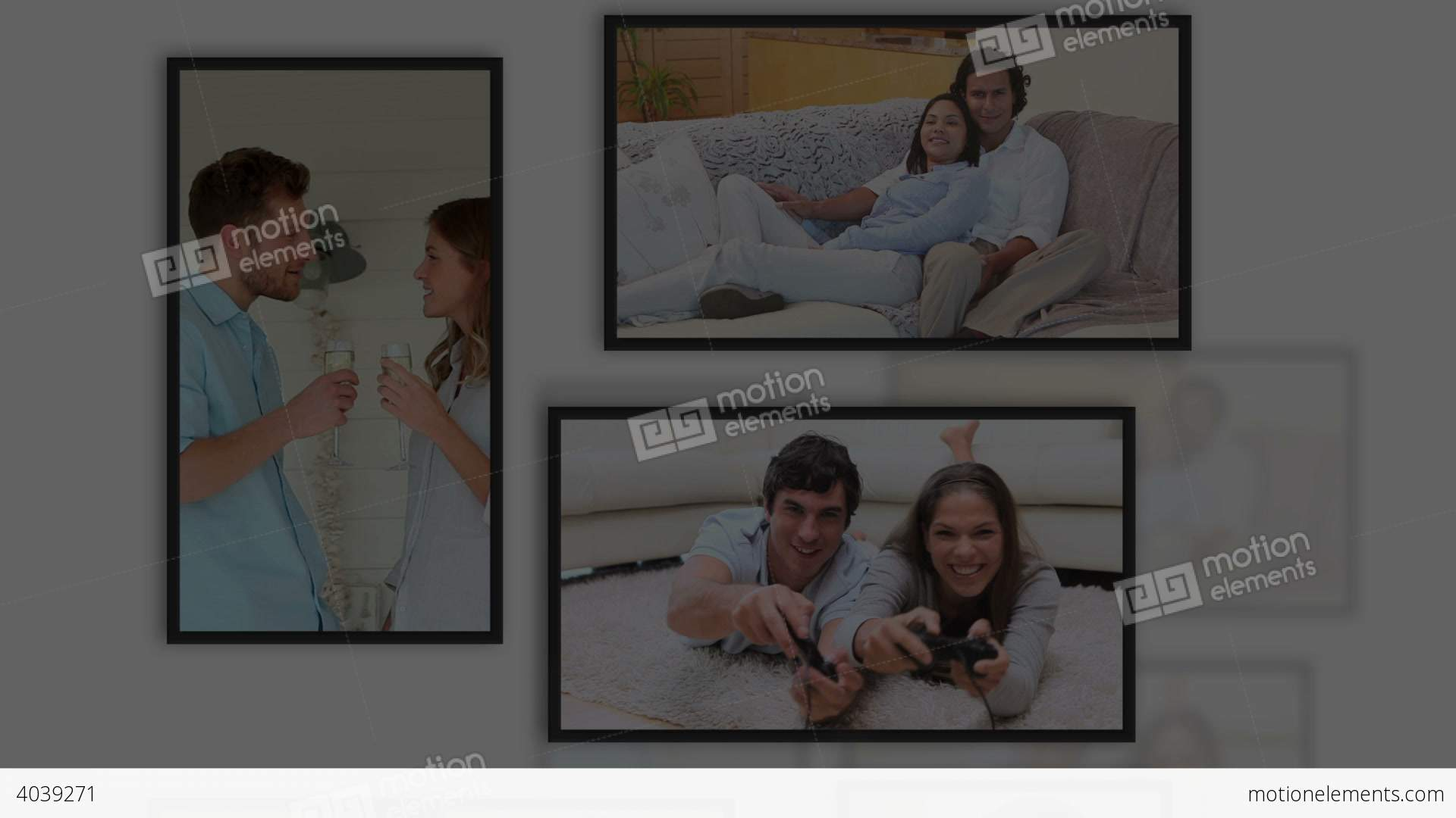 Montage of lovers videos into frames stock animation 4039271 montage of lovers videos into frames stock video footage jeuxipadfo Gallery