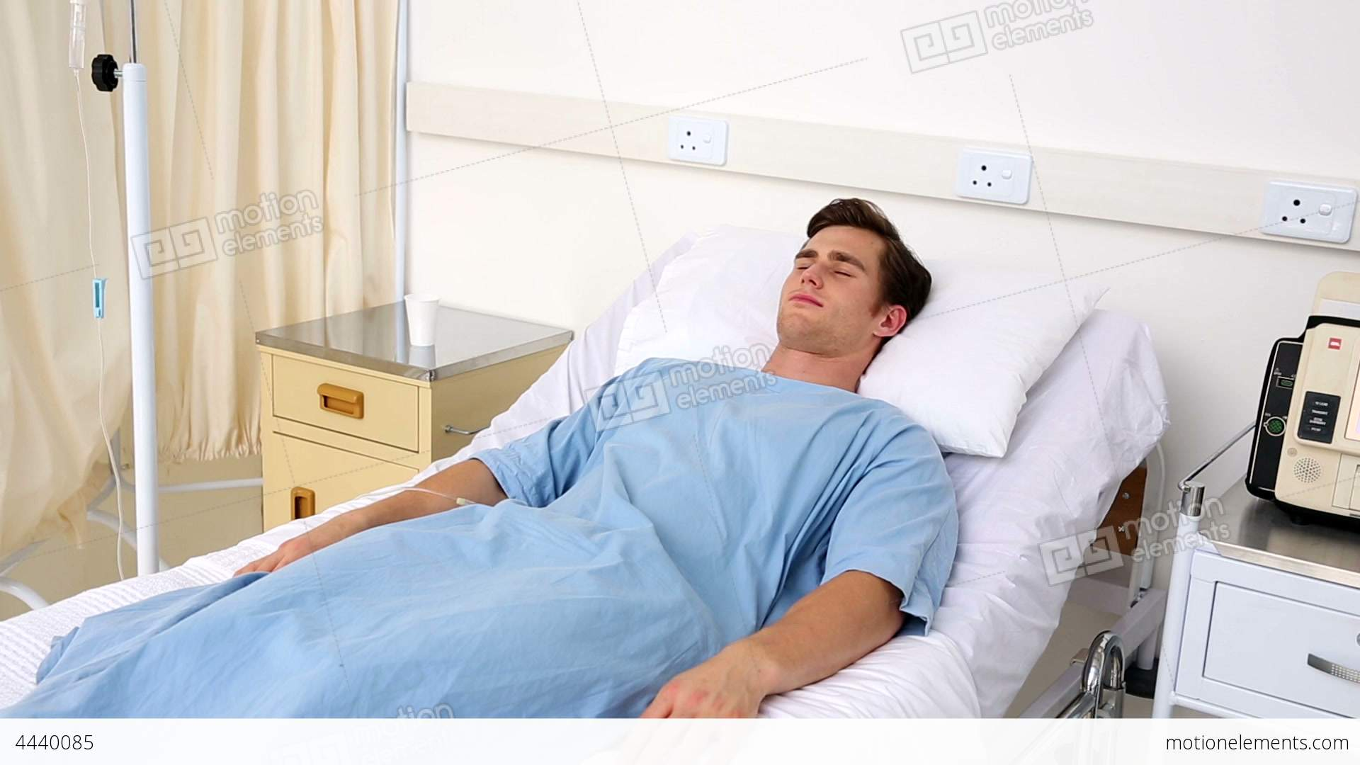 Picture Of Sick Person In Hospital Bed : Sick Man In Hospital sick man lying on hospital bed stock video ...